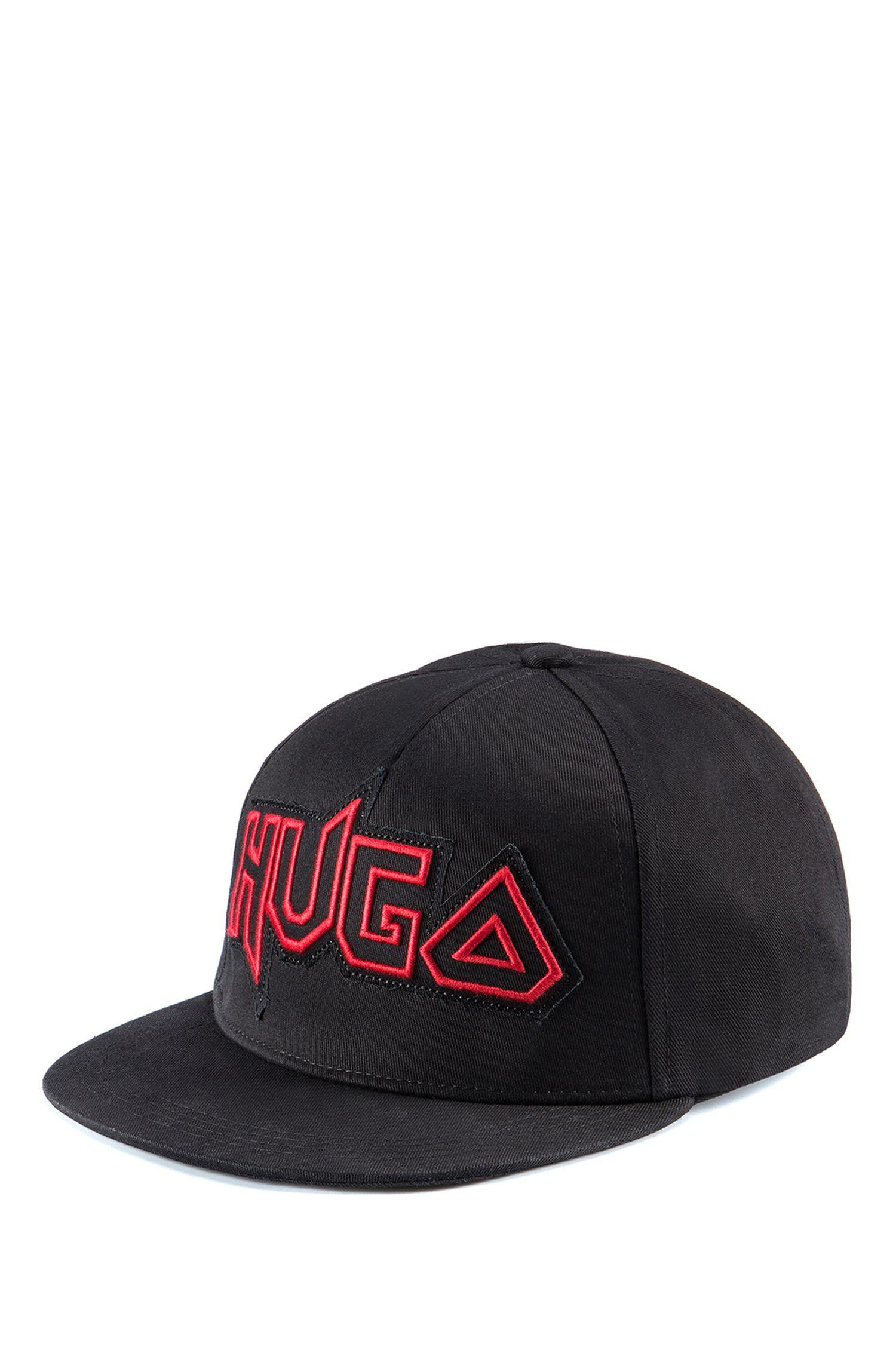 Cappellino da baseball in gabardine di cotone con logo originale