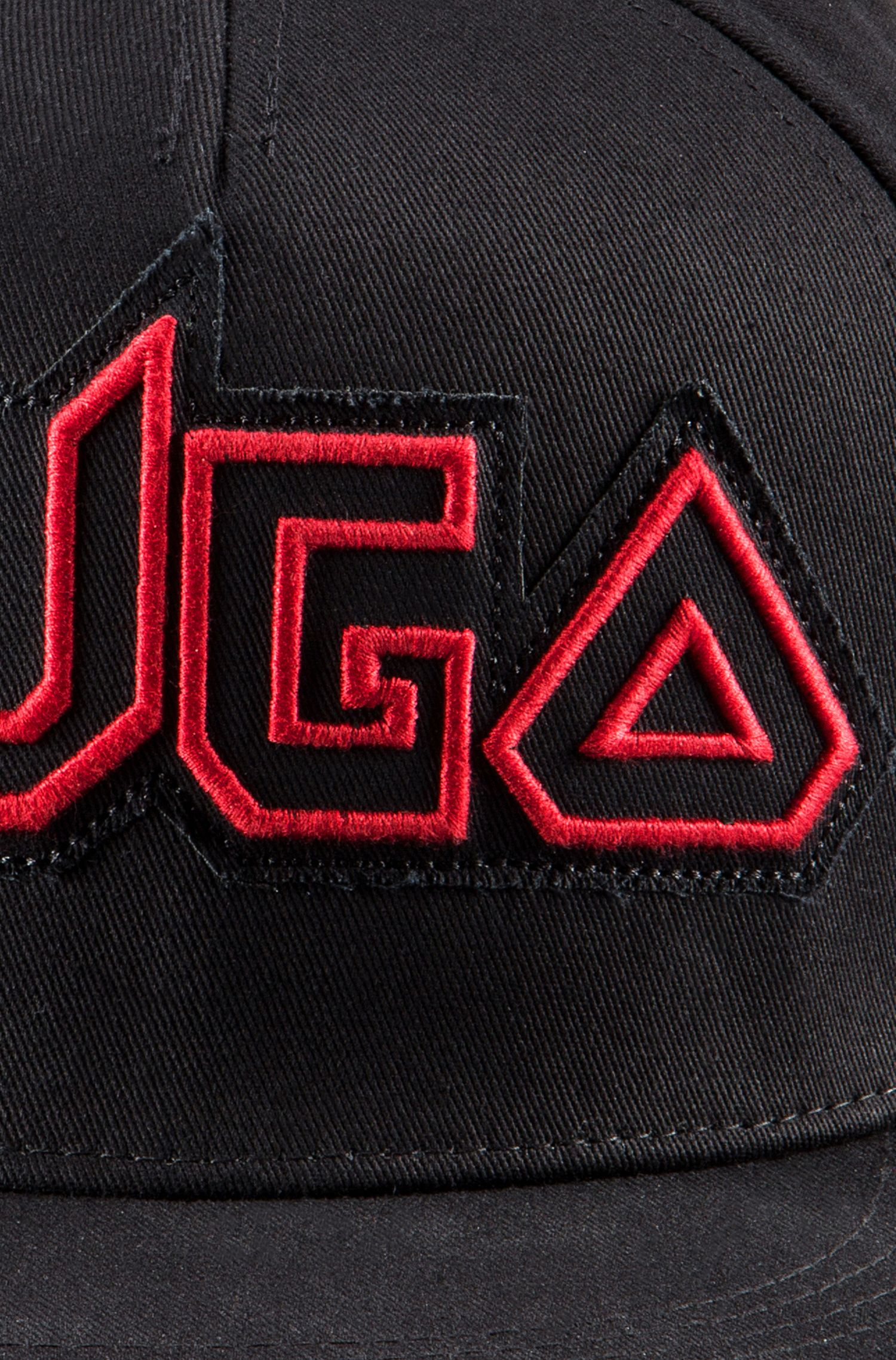 Gorra de béisbol en tejido de gabardina de algodón con un logo vanguardista