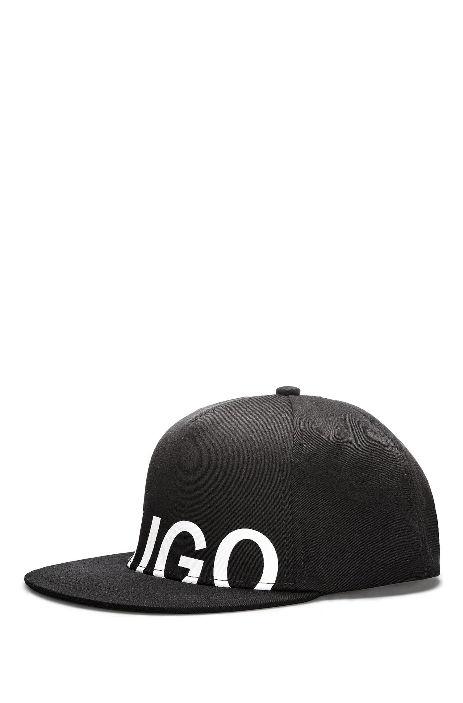 Cappellino da baseball con logo in gabardine di cotone
