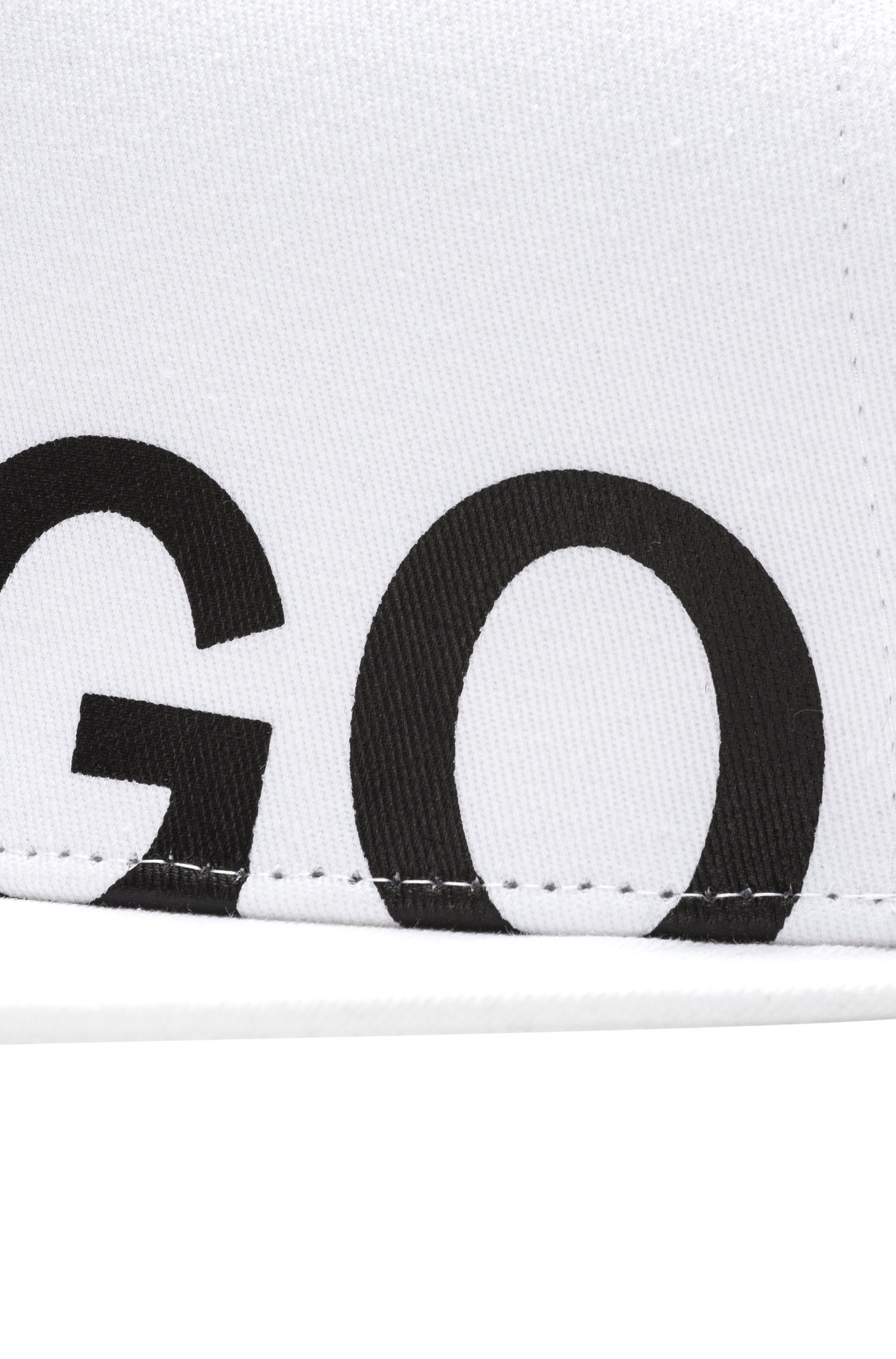 Casquette de base-ball en gabardine de coton avec logo