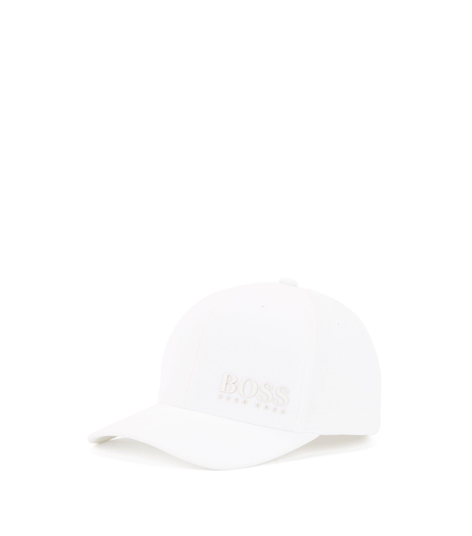 Cappellino da baseball in rete con logo multistrato nei colori delle nazionali, Bianco