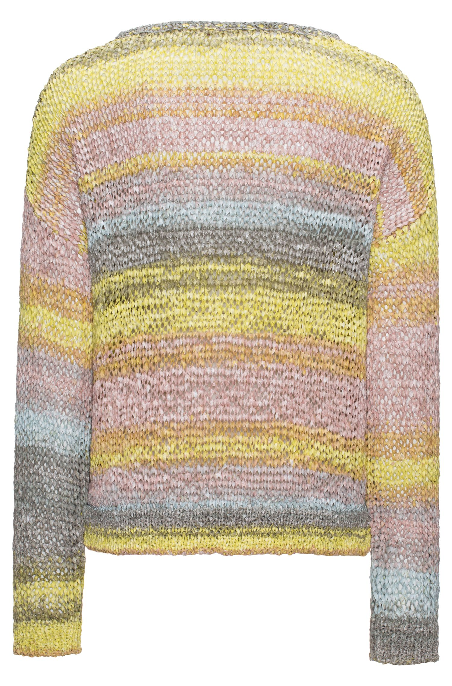 Pull court en fil de ruban multicolore