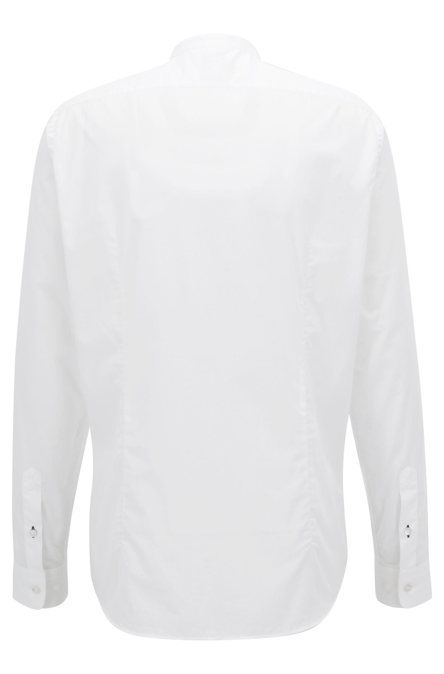 Regular-fit voile shirt with a stand collar