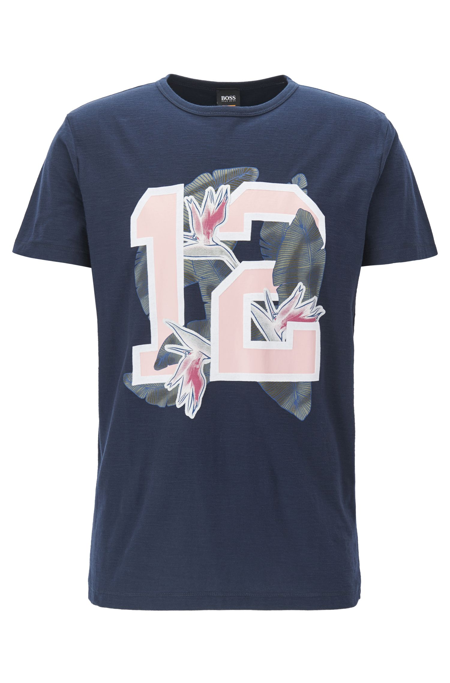 Relaxed-fit cotton jersey T-shirt with mixed graphic print
