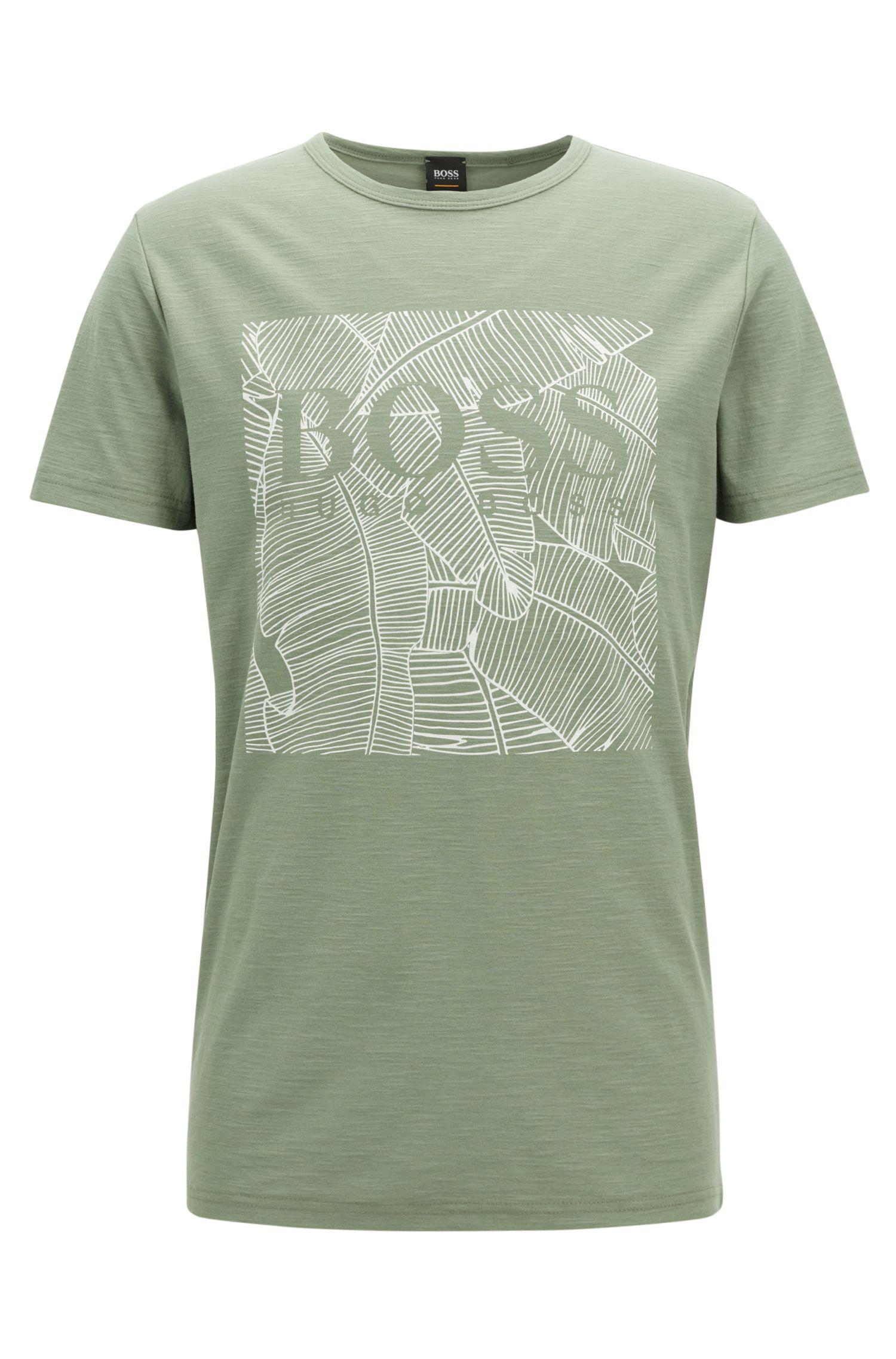 T-shirt graphique RelaxedFit en coton flammé