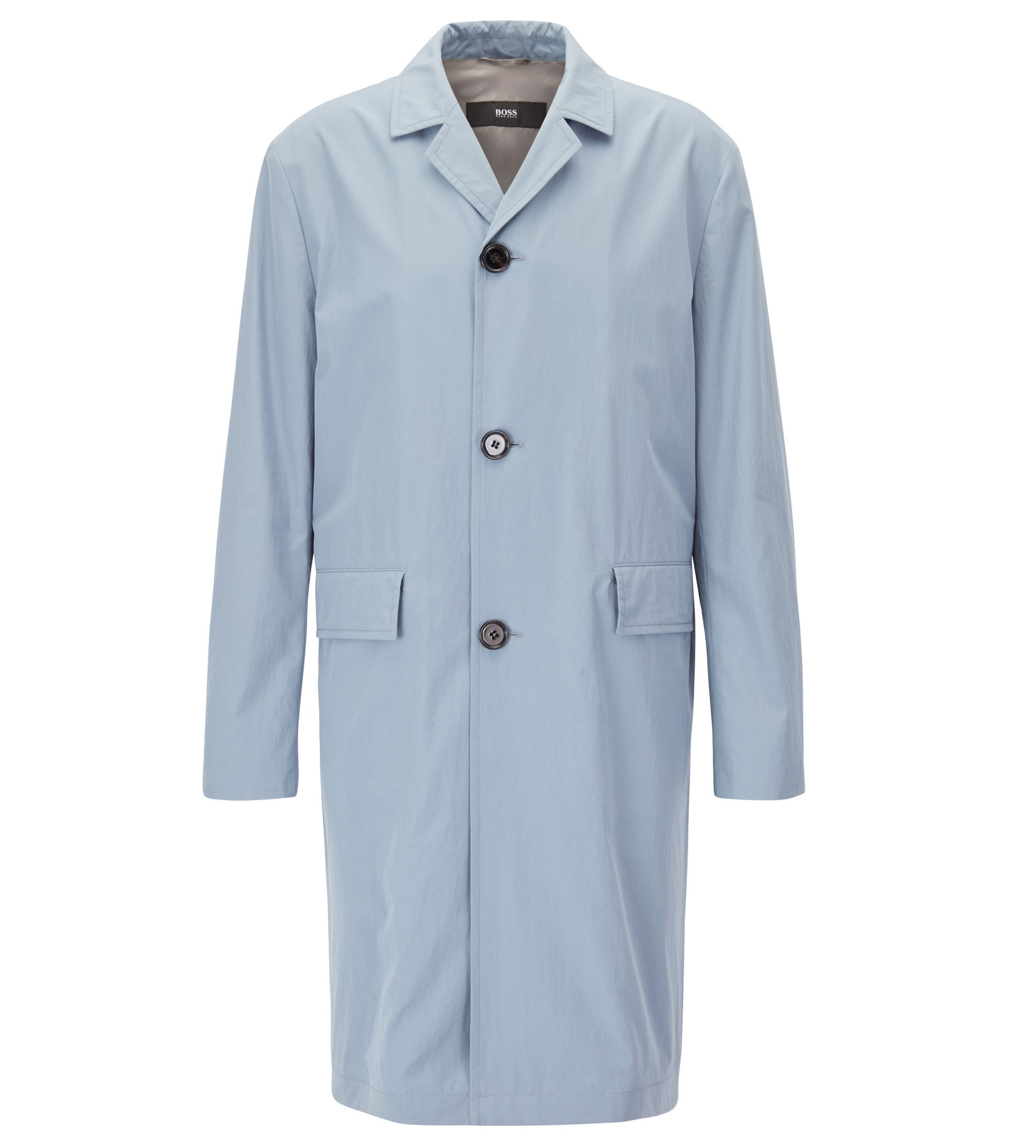 Lightweight cotton coat with a water-repellent finish, Light Grey