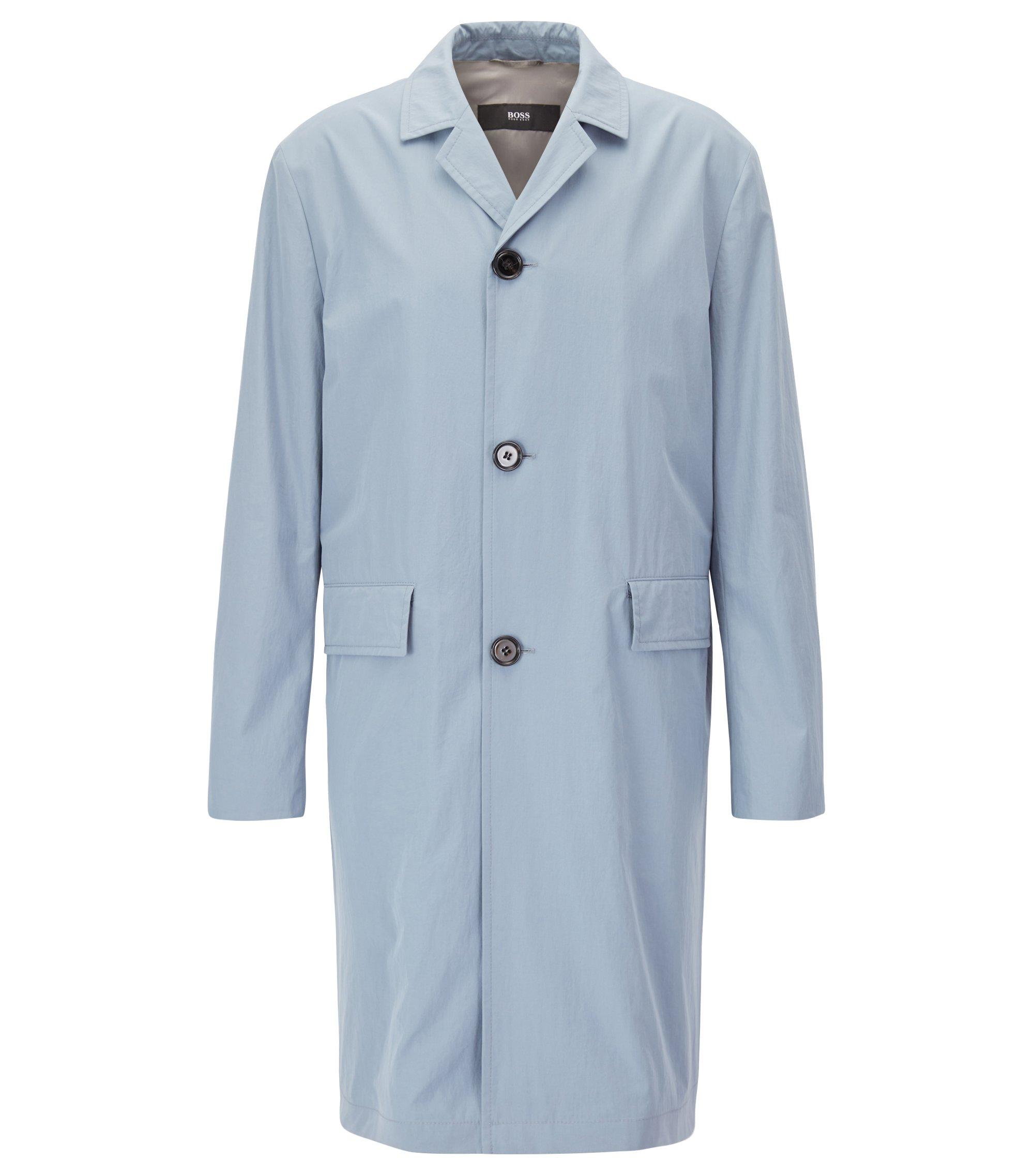 Mantel van lichte katoen met waterafstotende laag, Lichtgrijs