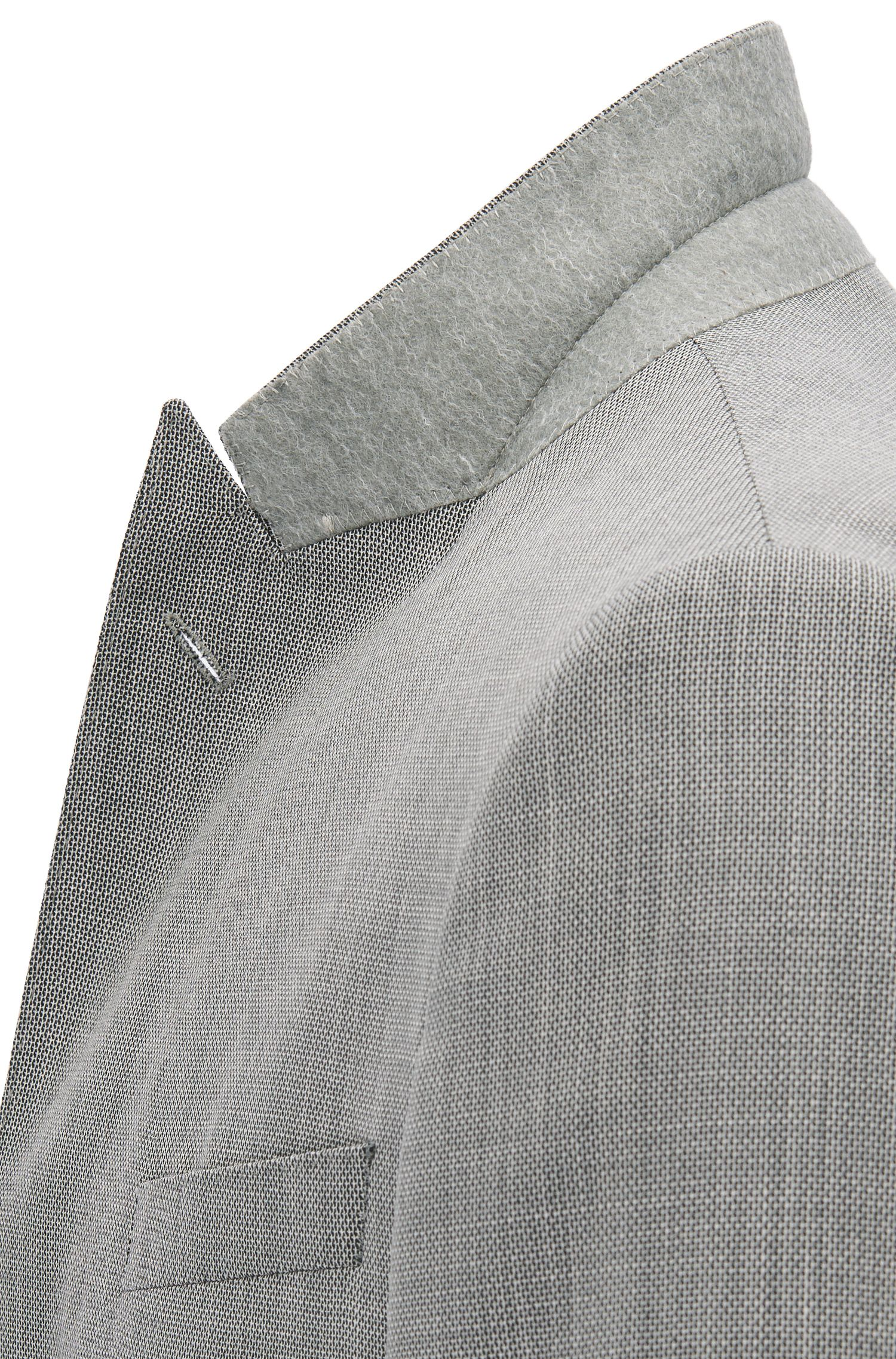 Slim-fit suit in a micro-pattern virgin wool