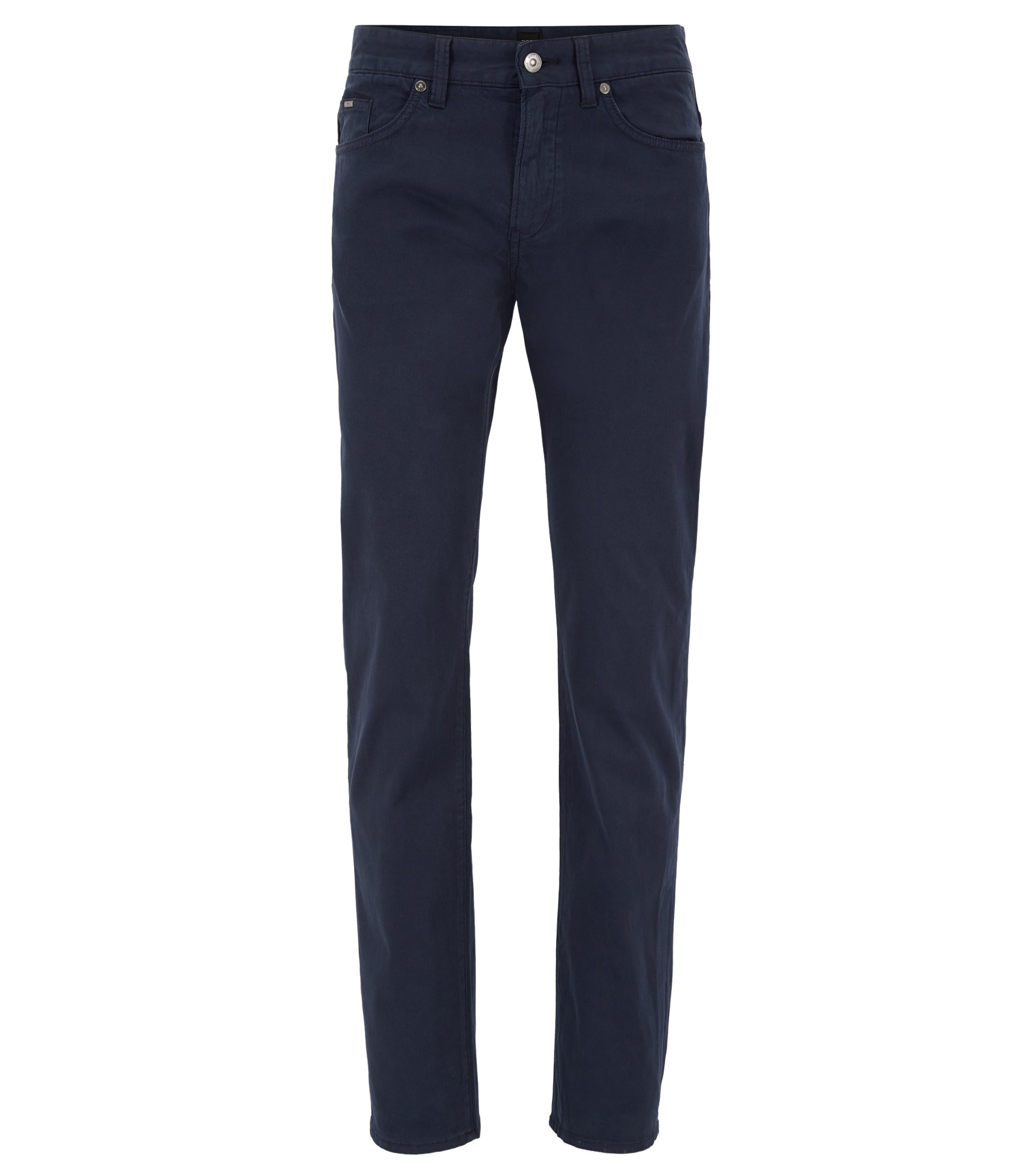 Jean Slim Fit en denim stretch confortable, Bleu foncé