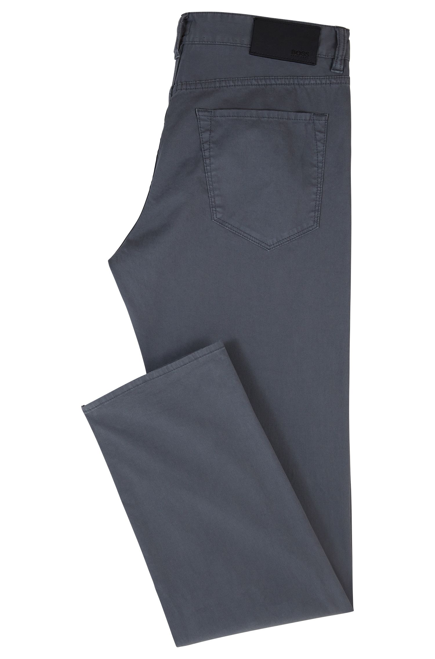 Regular-fit jeans in stretch ripstop denim BOSS