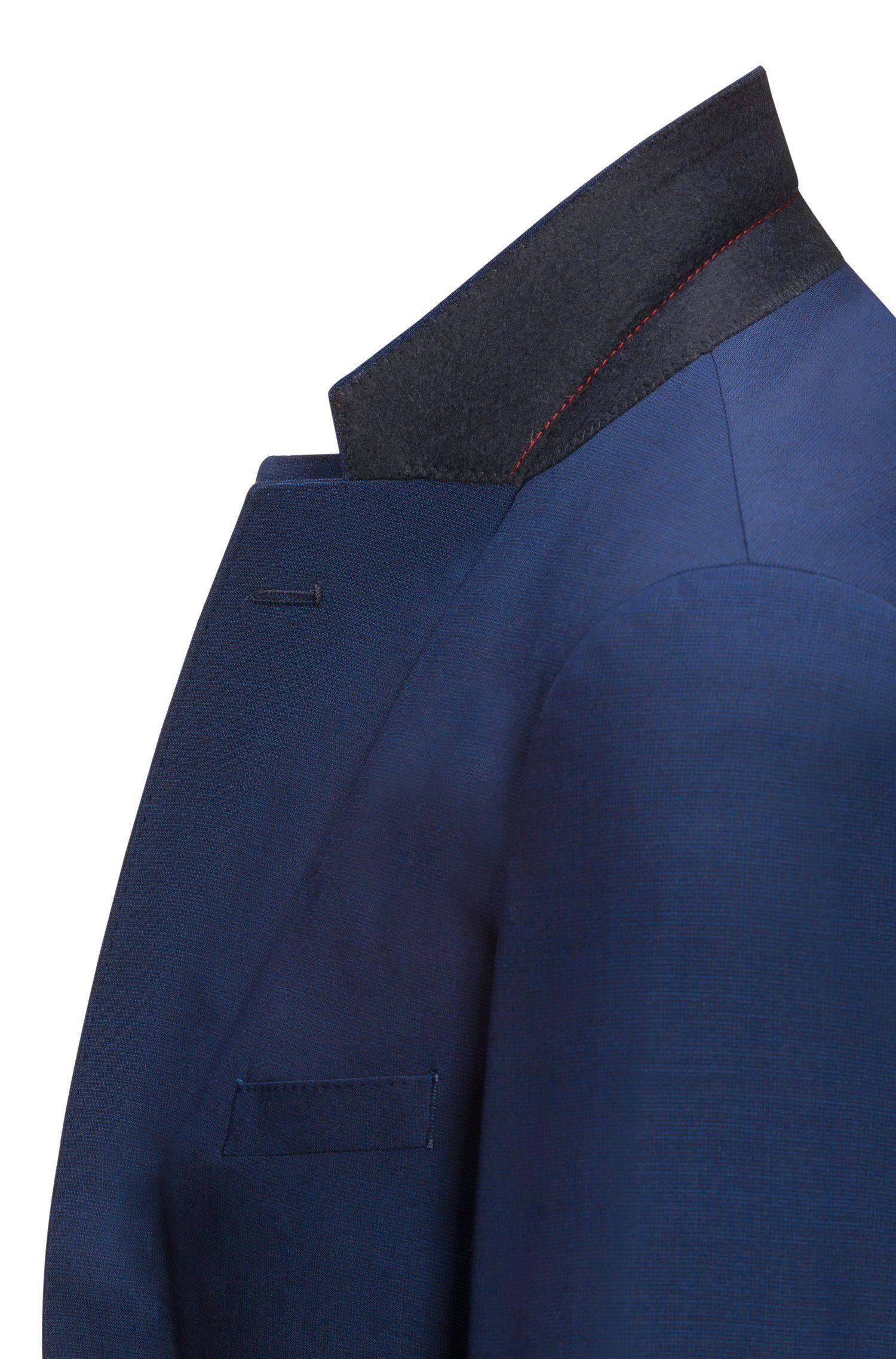 Regular-Fit Sakko aus garngefärbter Schurwolle