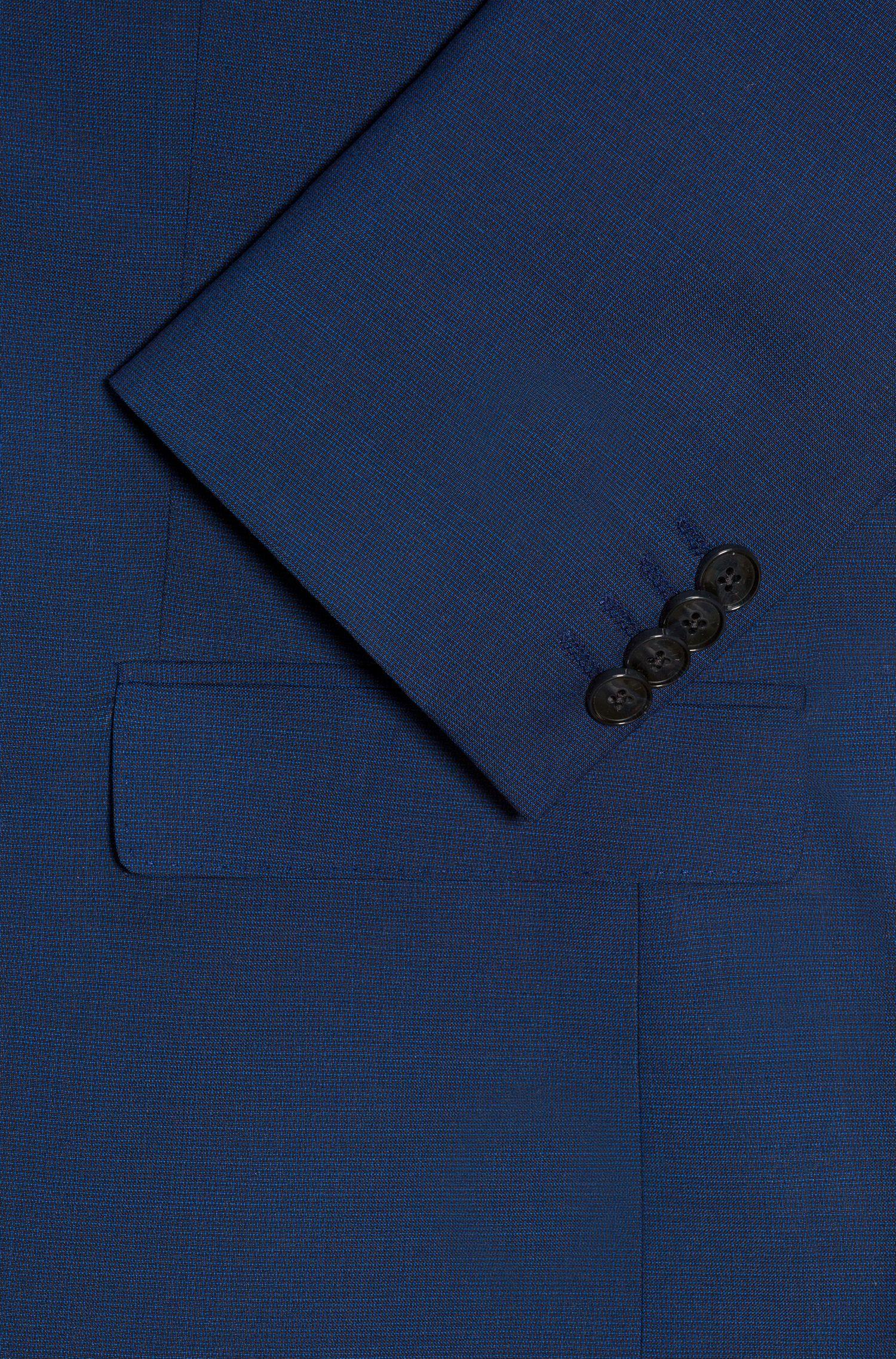 Veste Regular Fit en laine vierge tissée-teinte