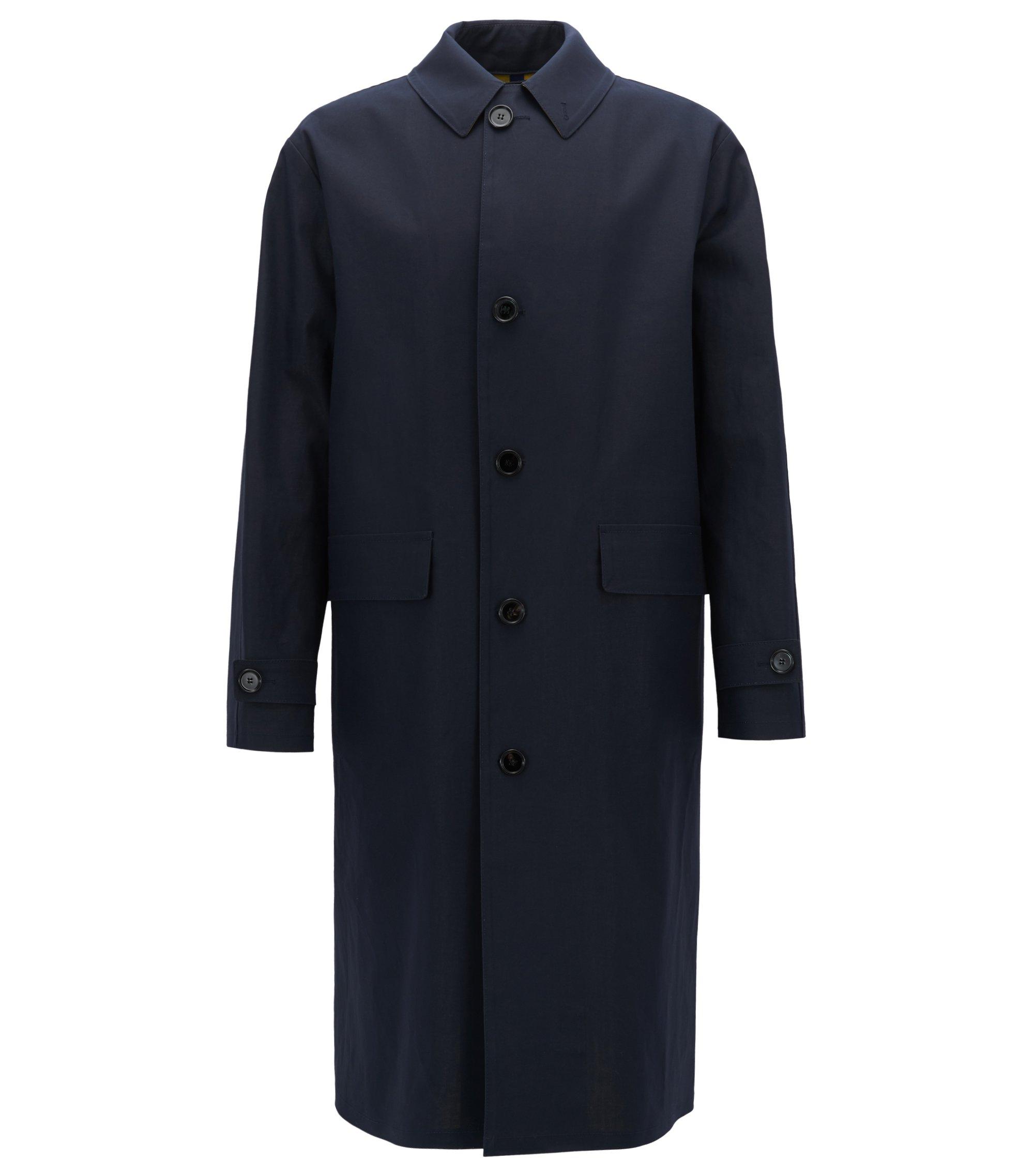 Raincoat in water-repellent cotton , Dark Blue