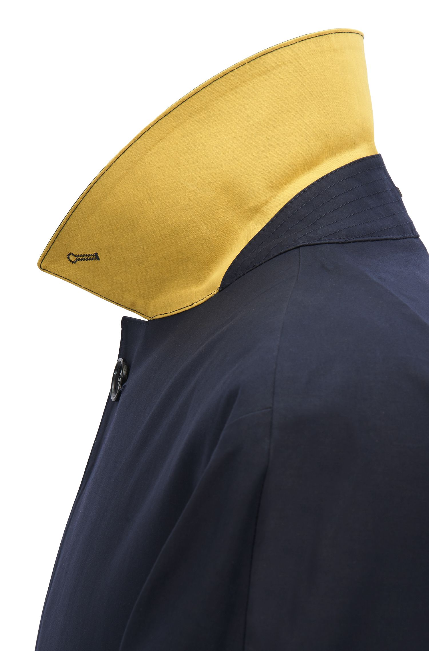 Raincoat in water-repellent cotton