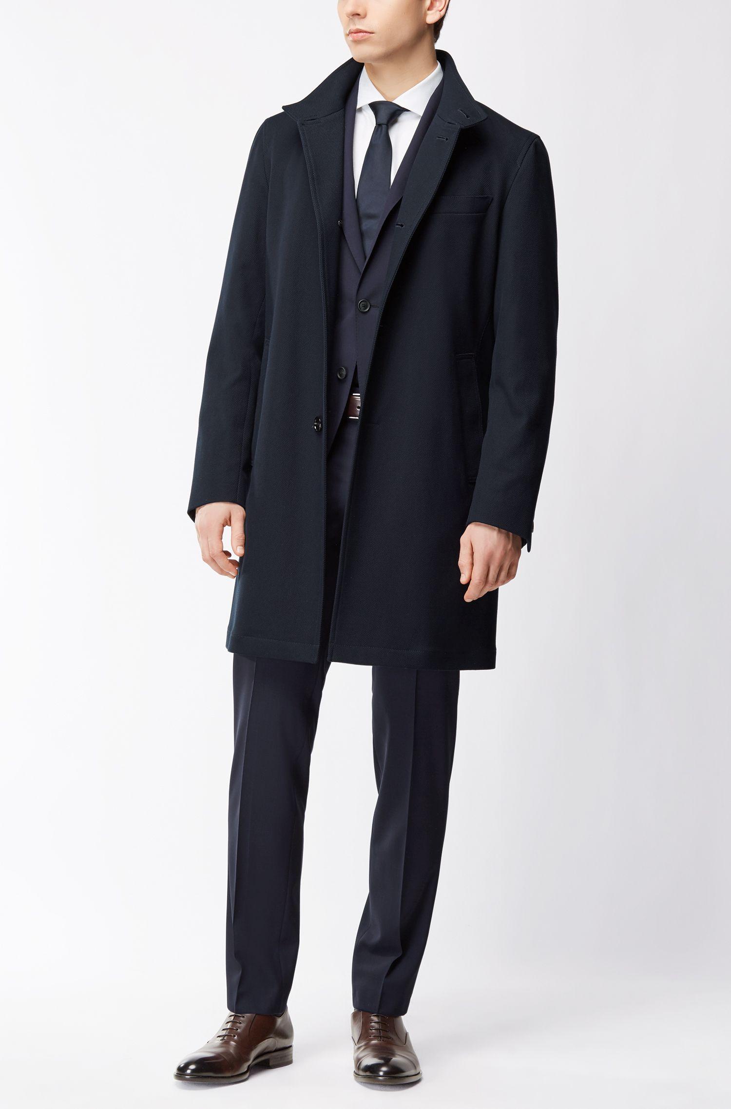 Abrigo de algodón elástico con cuello mao