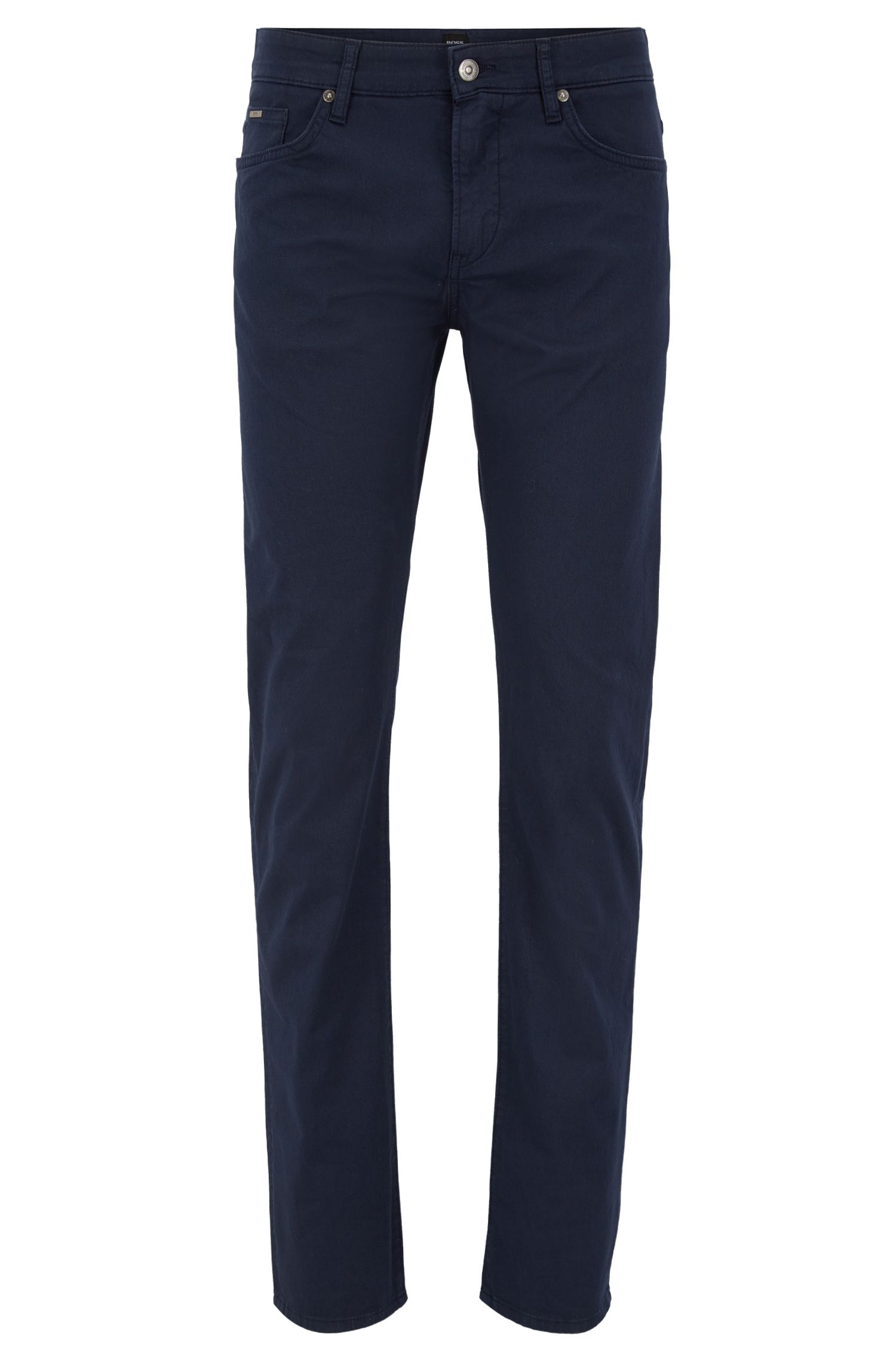 Slim-fit garment-dyed jeans in stretch-cotton twill