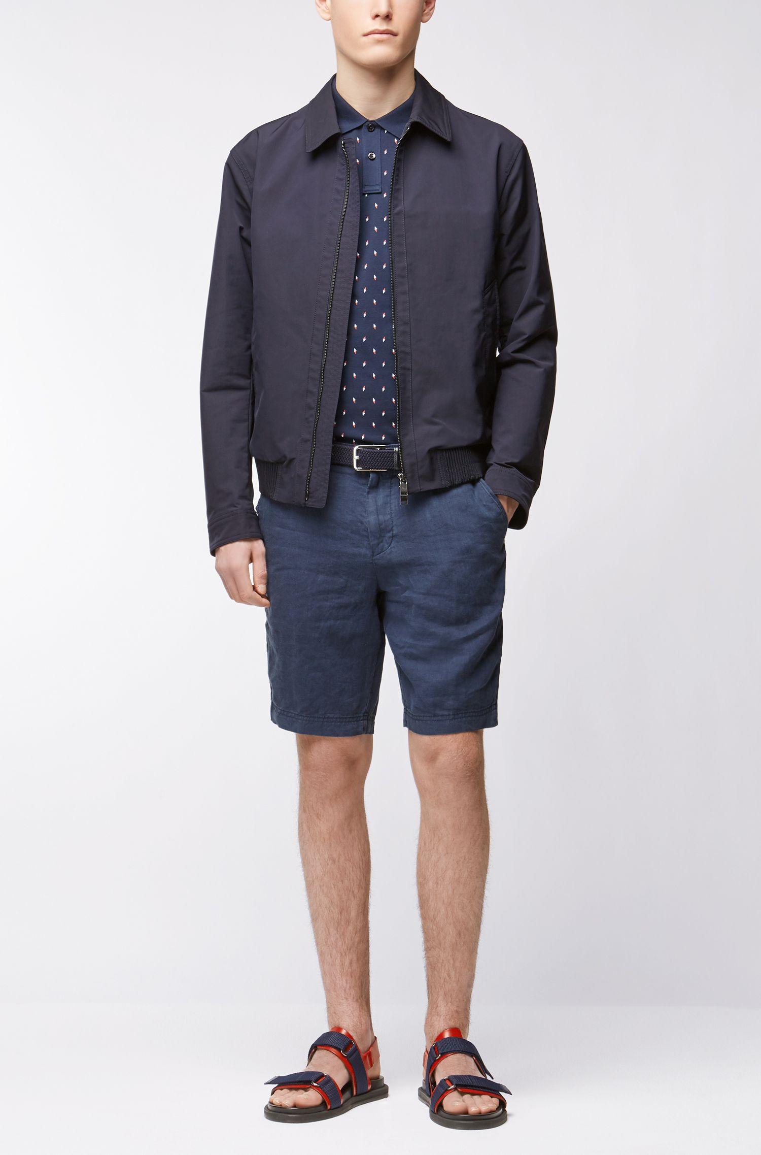 Slim-Fit Poloshirt aus Baumwoll-Piqué mit Kompassnadel-Print