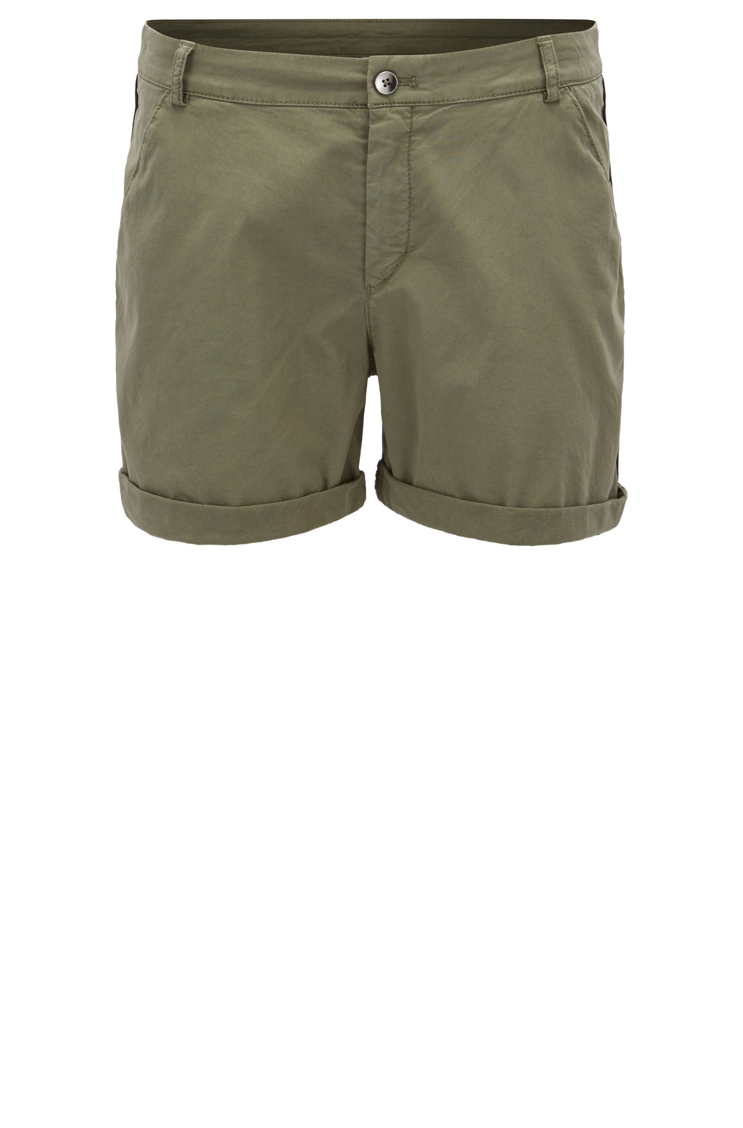 Shorts estilo chino relaxed fit en algodón elástico