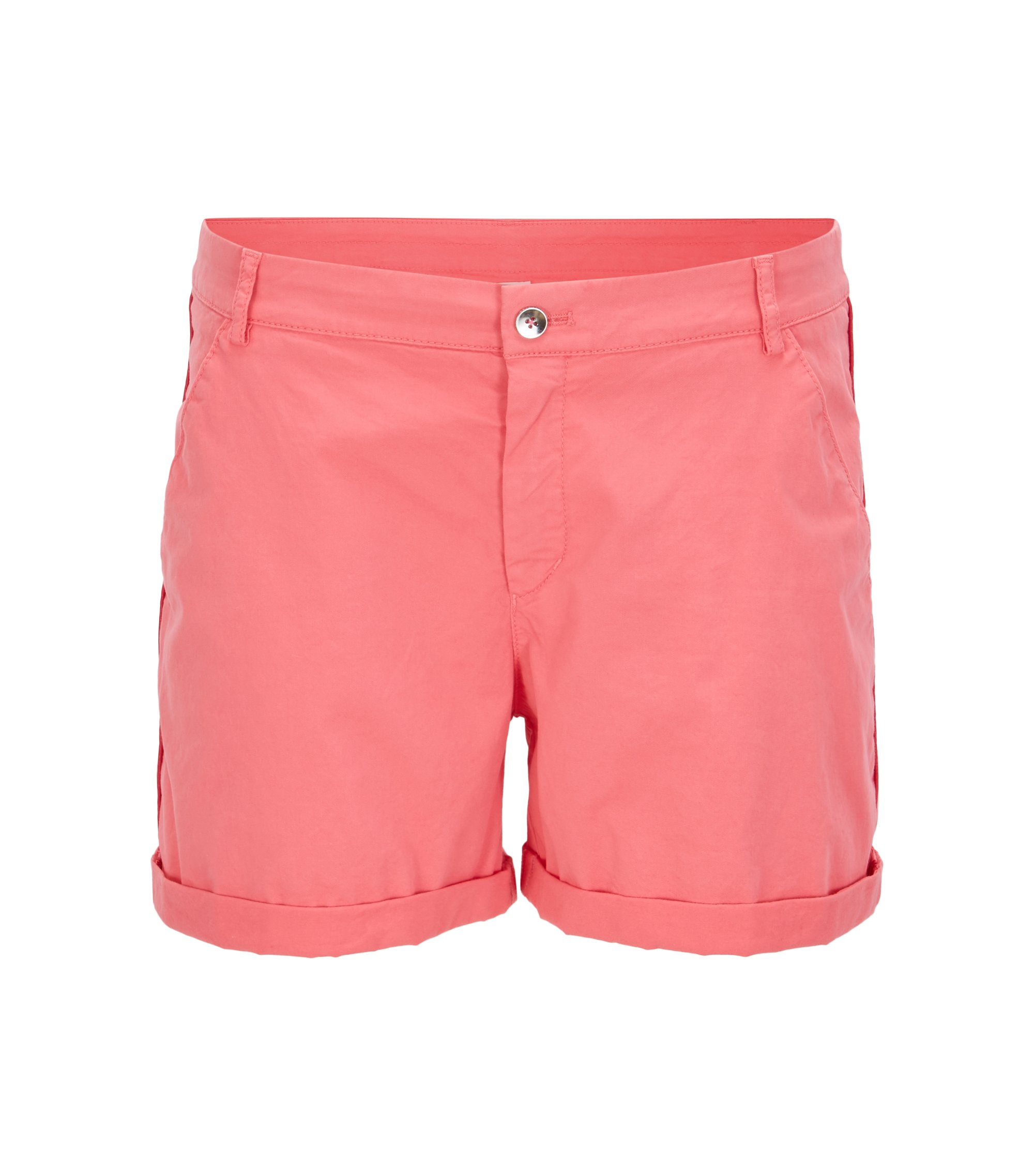 Relaxed-fit chinoshort van stretchkatoen, Pink