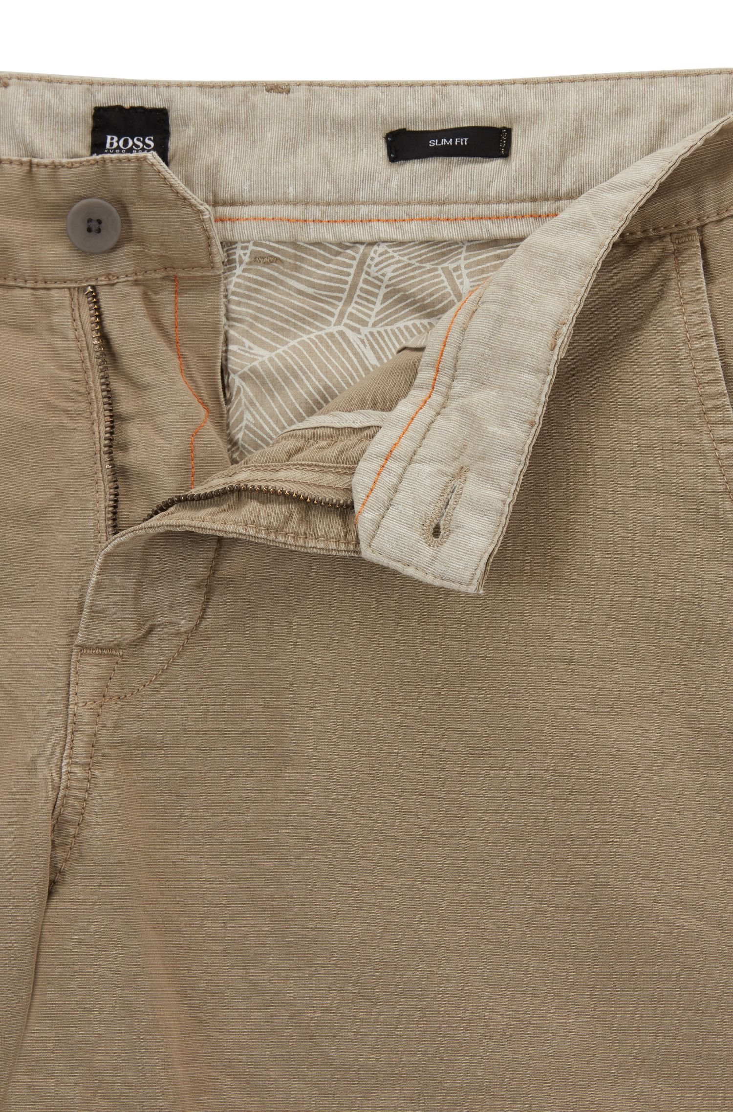 Slim-fit broek van een katoenmix