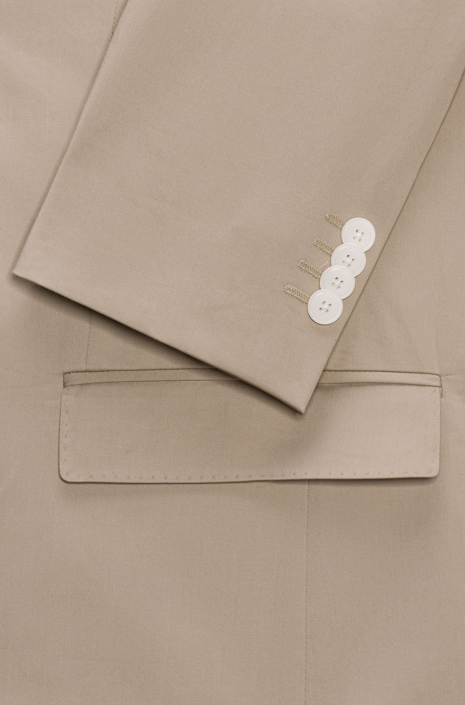 Traje slim fit en algodón elástico