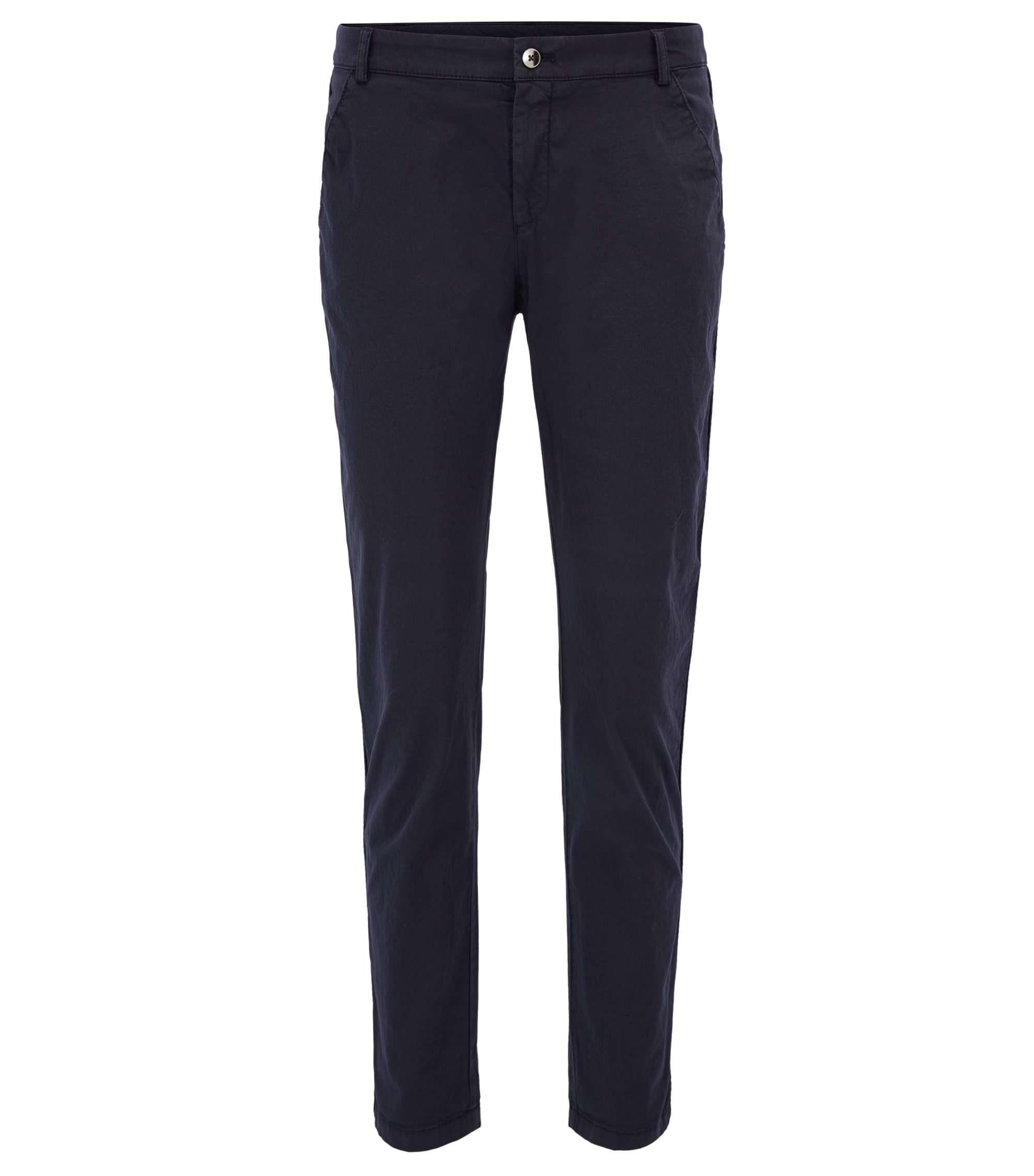Pantalon chino Relaxed Fit en coton stretch, Bleu foncé