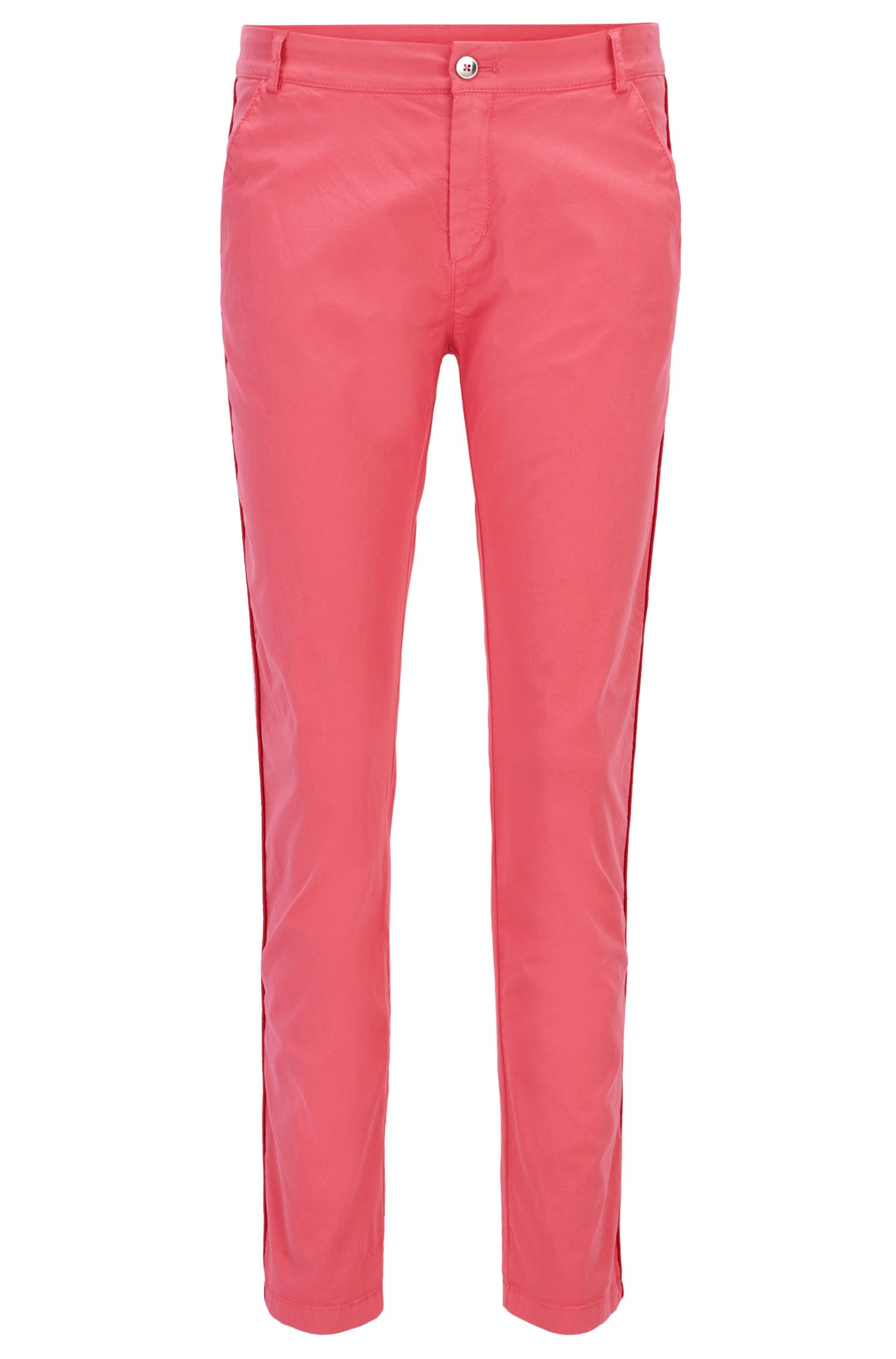 Relaxed-fit chino trousers in stretch cotton