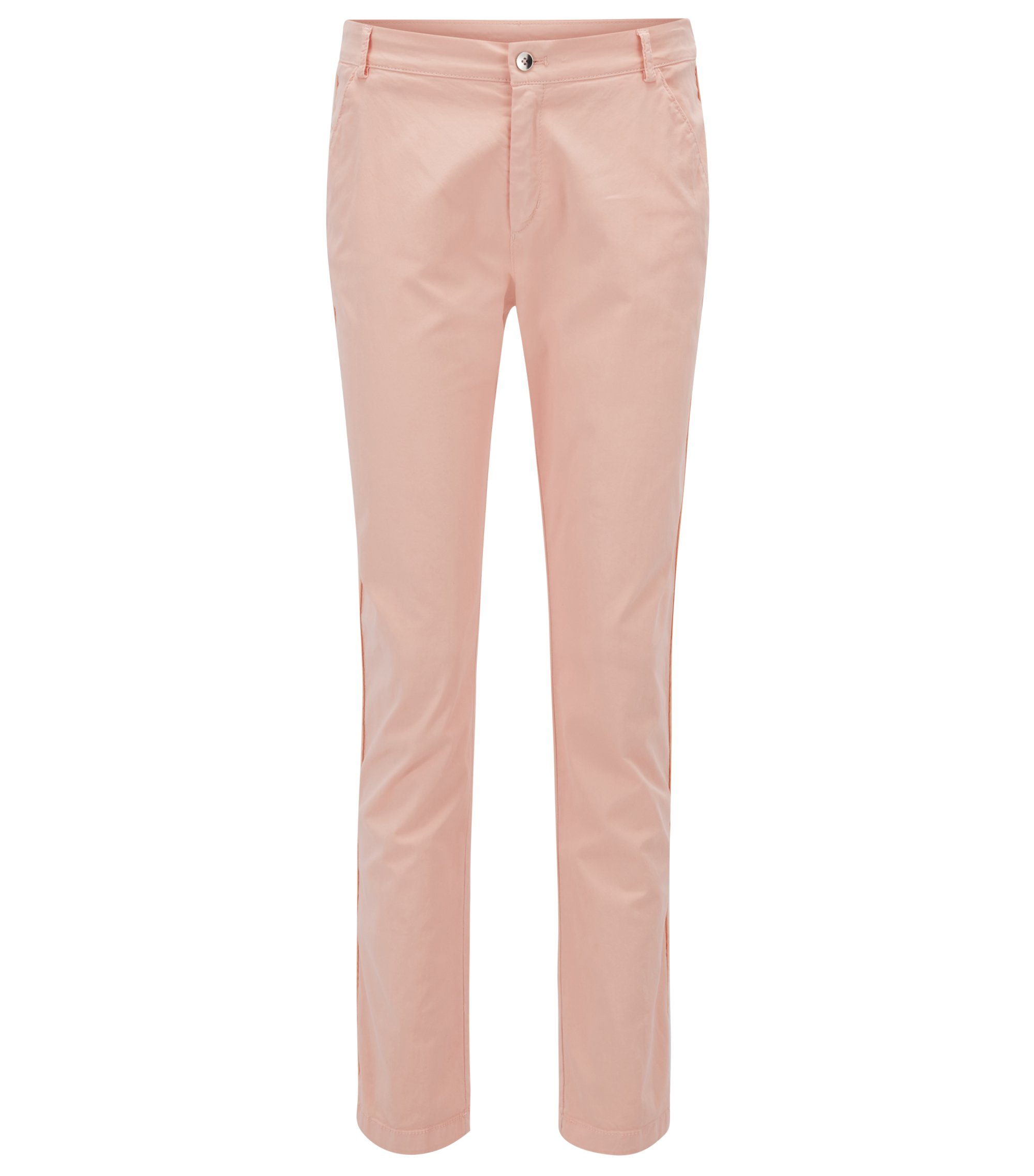 Pantalon chino Relaxed Fit en coton stretch, Rose clair