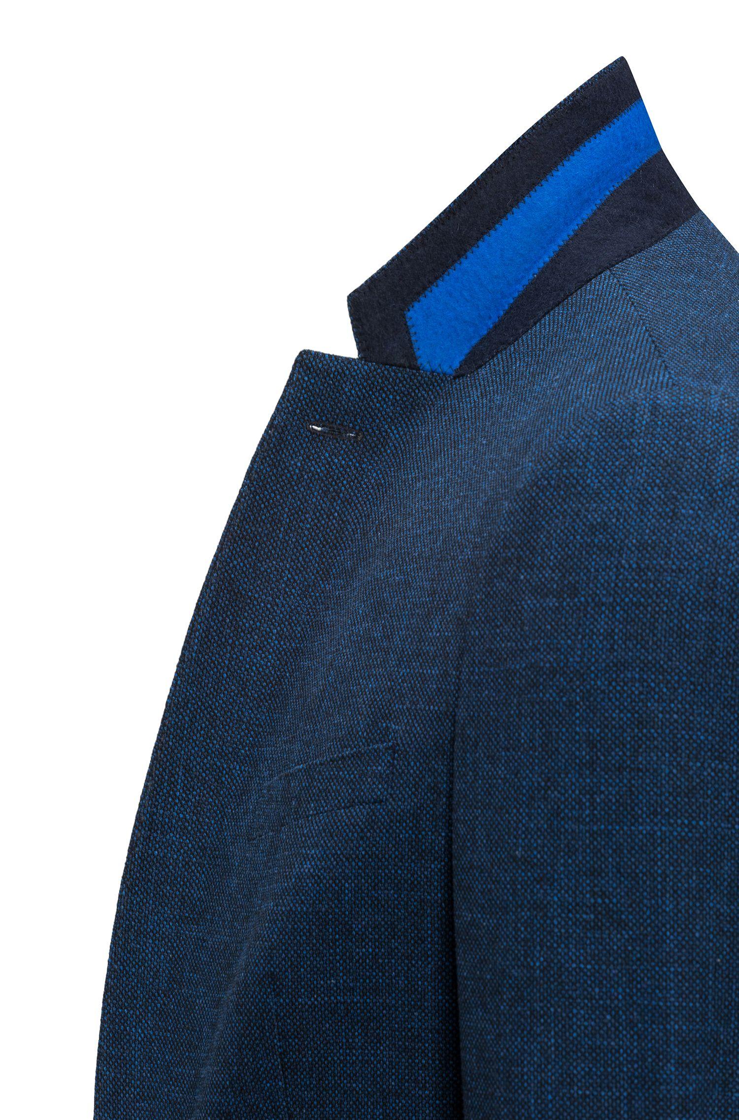 Veste Slim Fit en tissu chiné à motif œil-de-perdrix