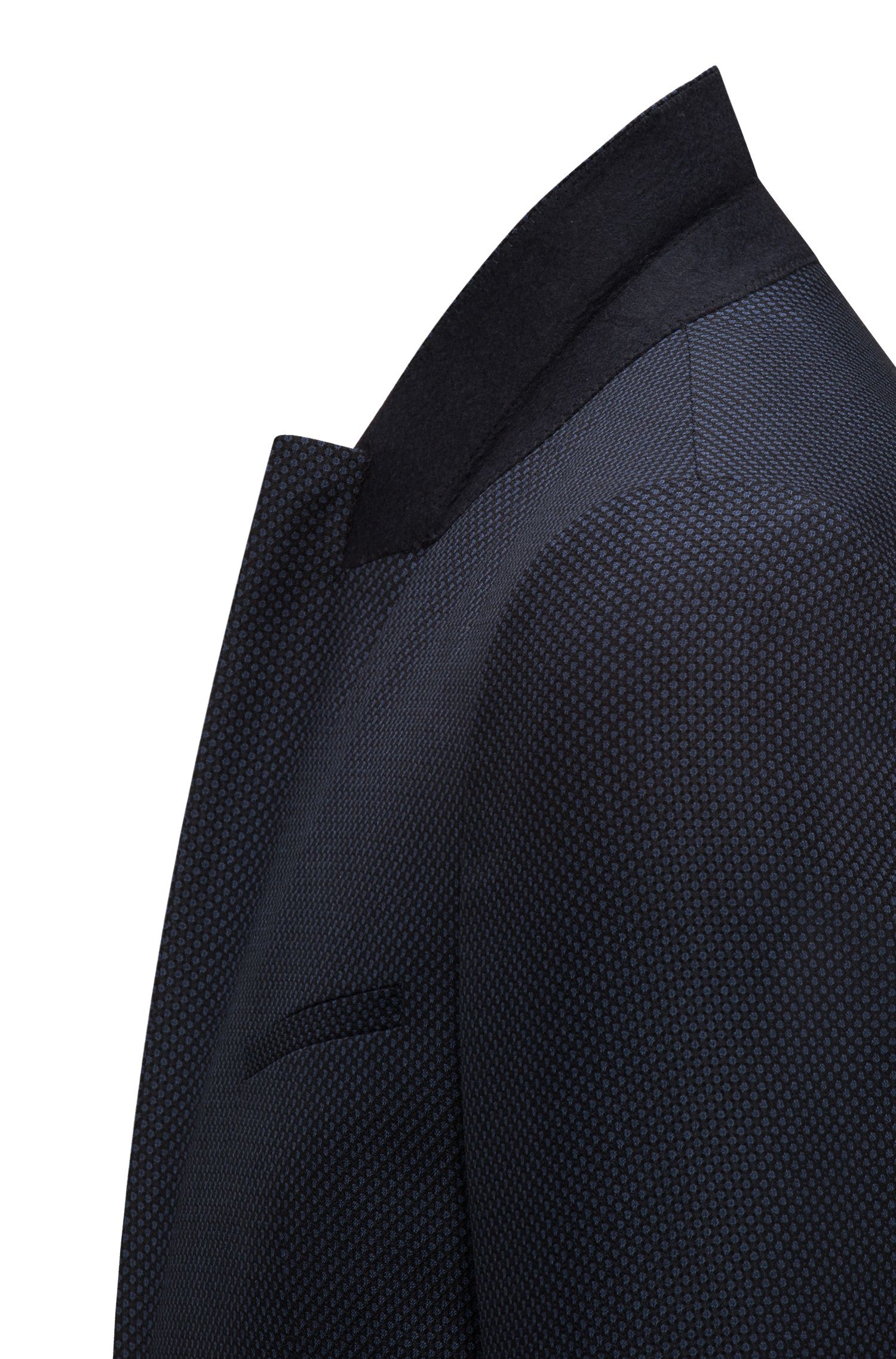 Veste Extra Slim Fit en laine vierge à motif œil-de-perdrix oversize