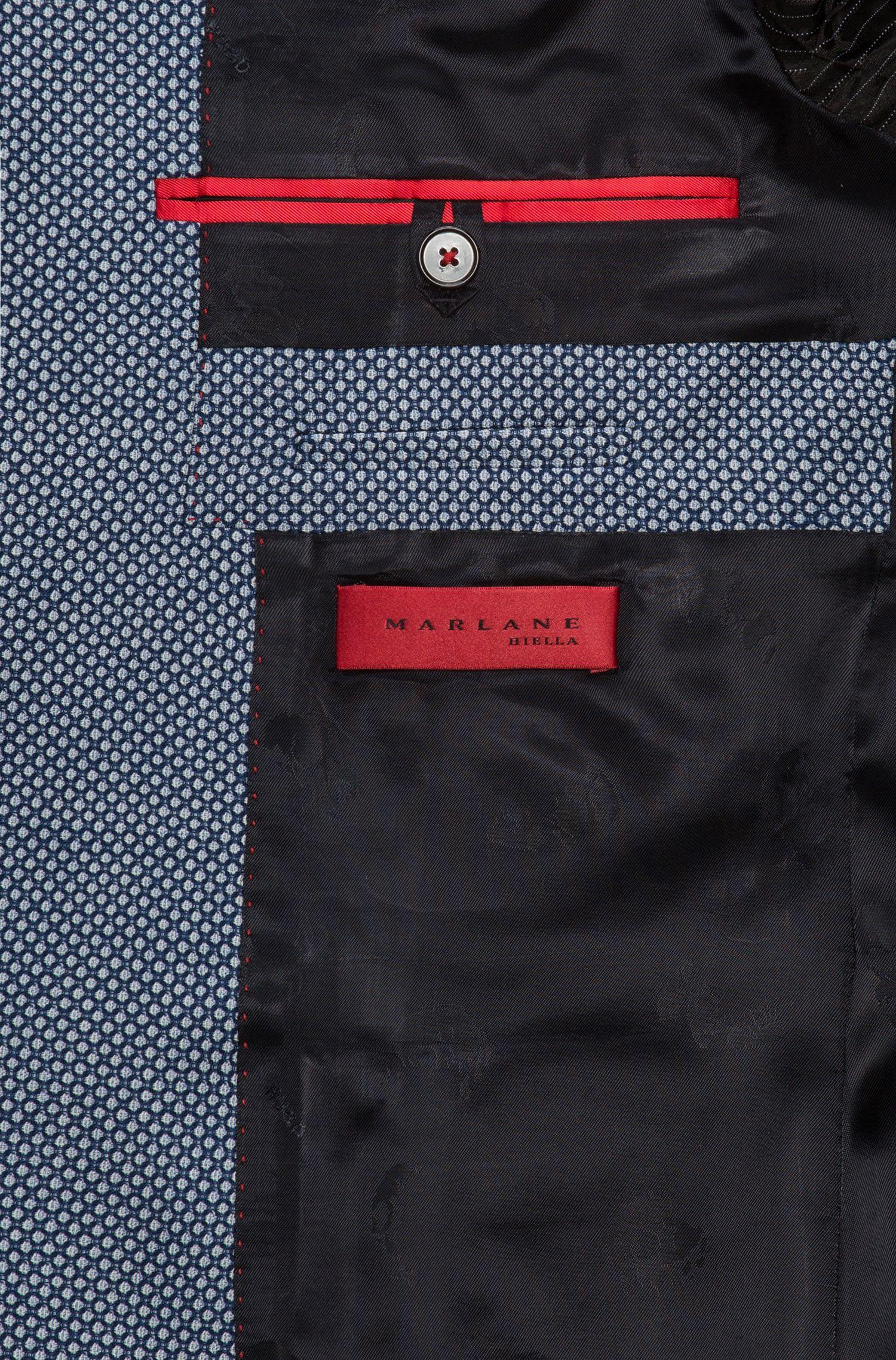Extra-slim-fit virgin wool jacket in oversized birdseye pattern
