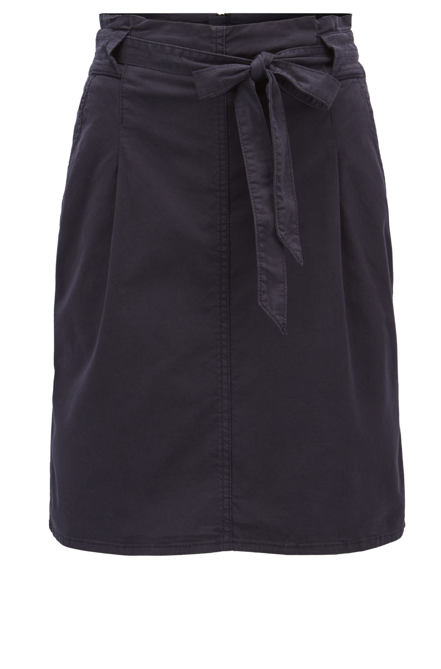 Utility-inspired pencil skirt in stretch cotton