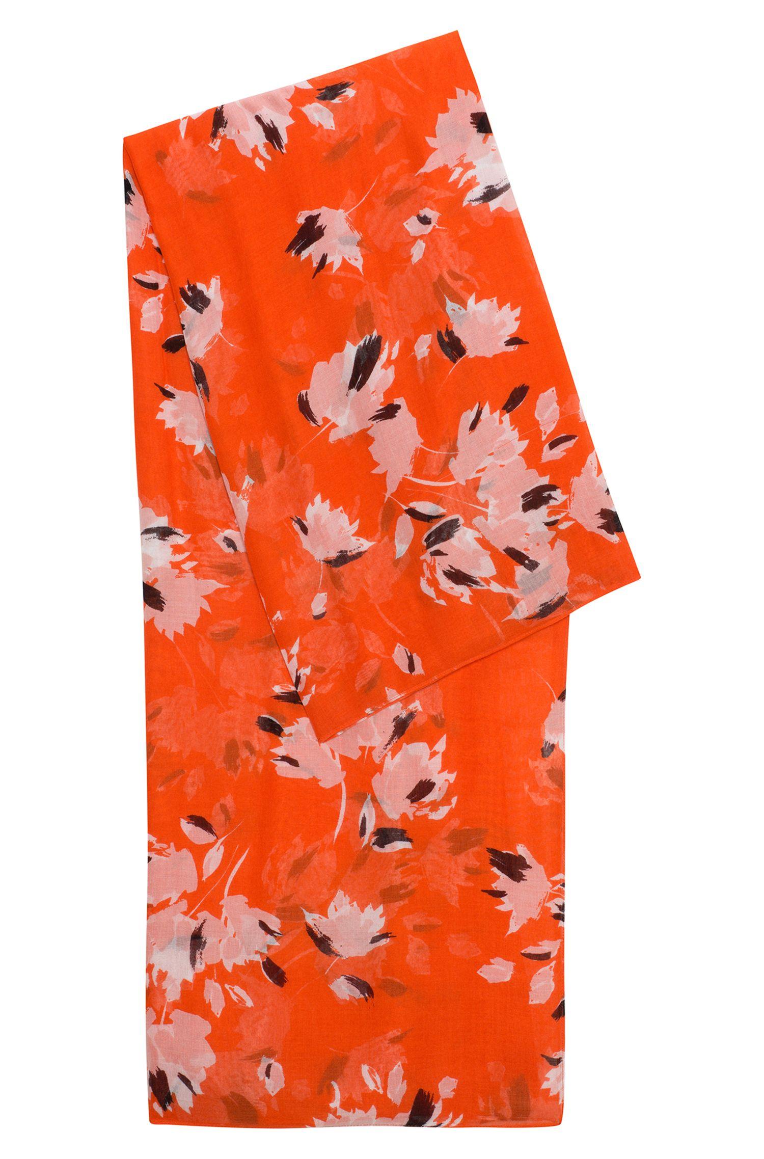 Schal aus leichtem Modal mit abstraktem Blumenprint