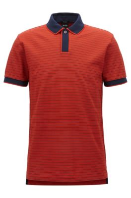 Polo regular fit in cotone mercerizzato, Arancione scuro