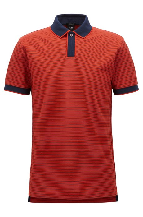 HUGO BOSS Polo Regular Fit en coton mercerisé PdWP4N
