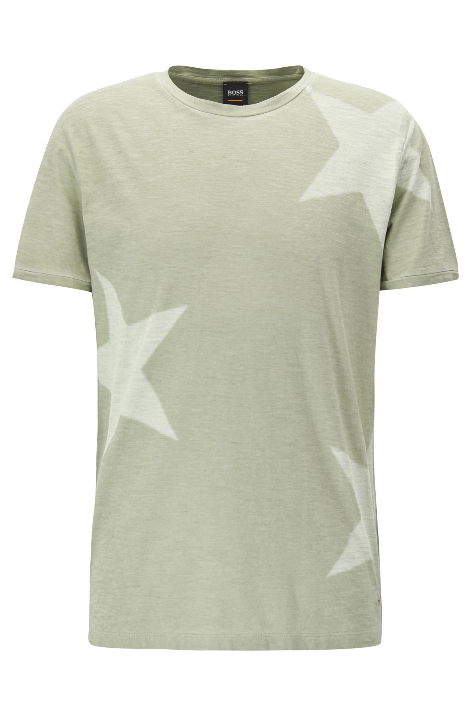 Star-print T-shirt in slub cotton jersey