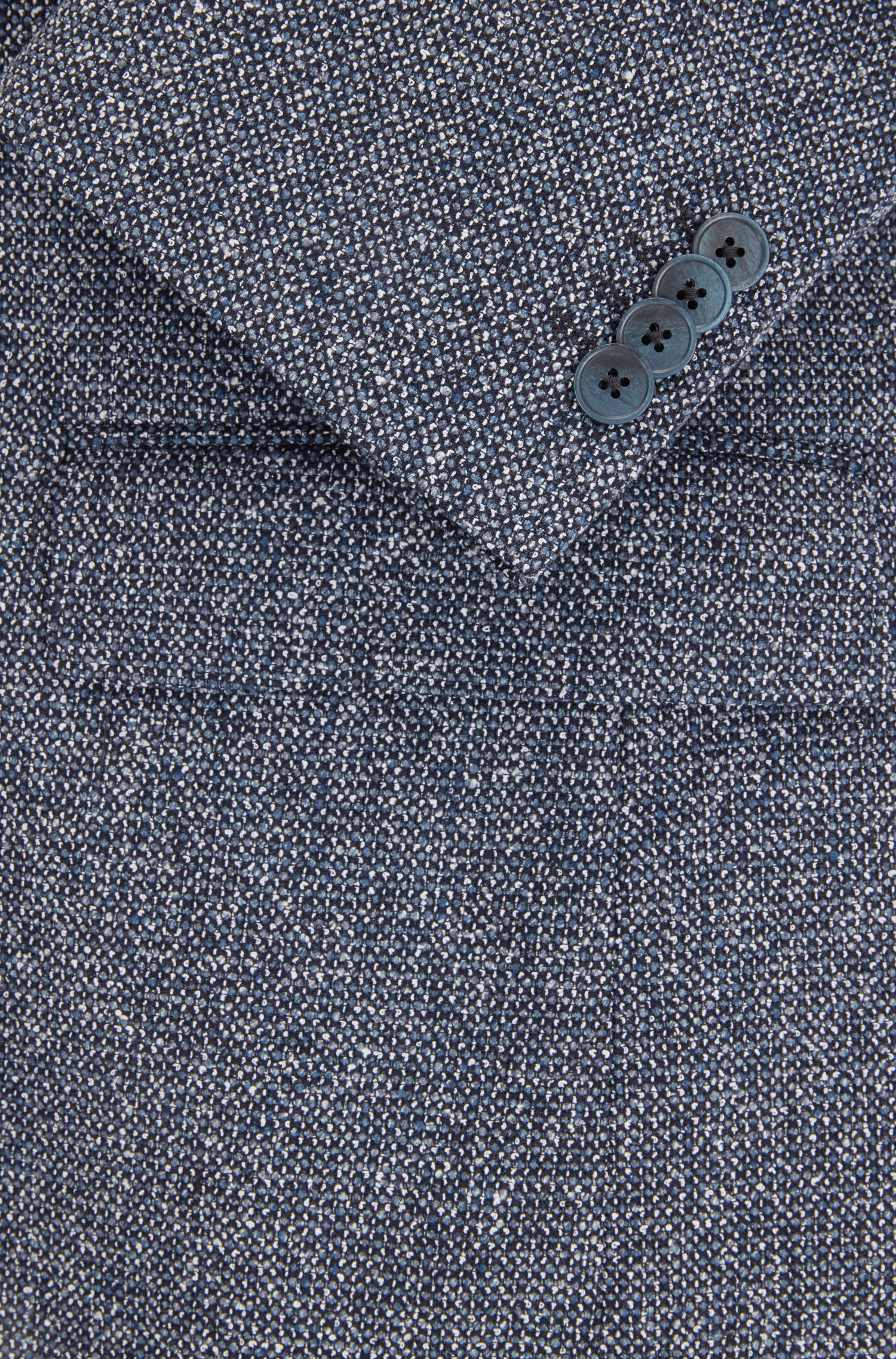 Regular-fit micro-pattern jacket with elbow patches