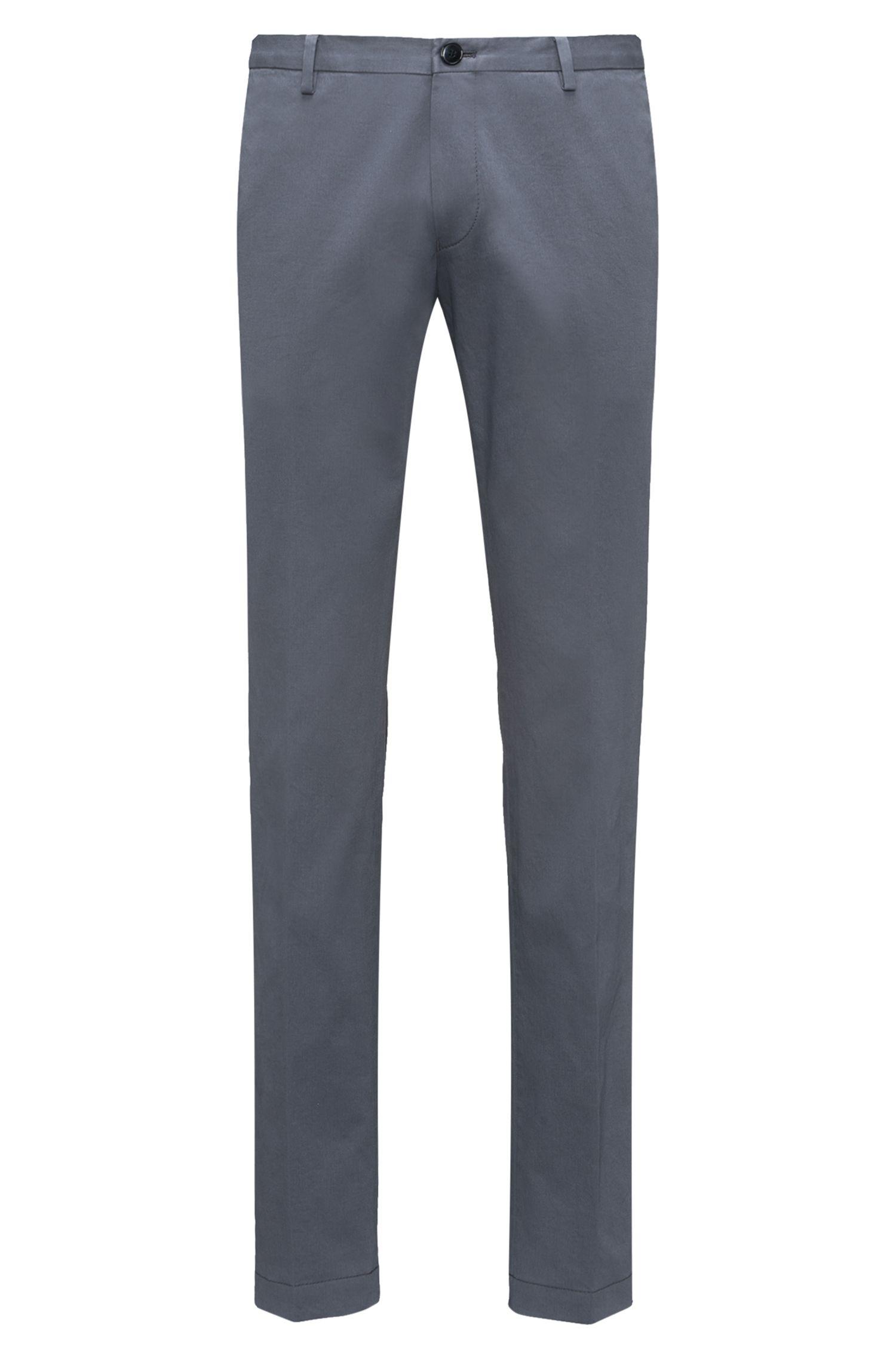 Slim-fit broek van zachte, gewassen stretchkatoen