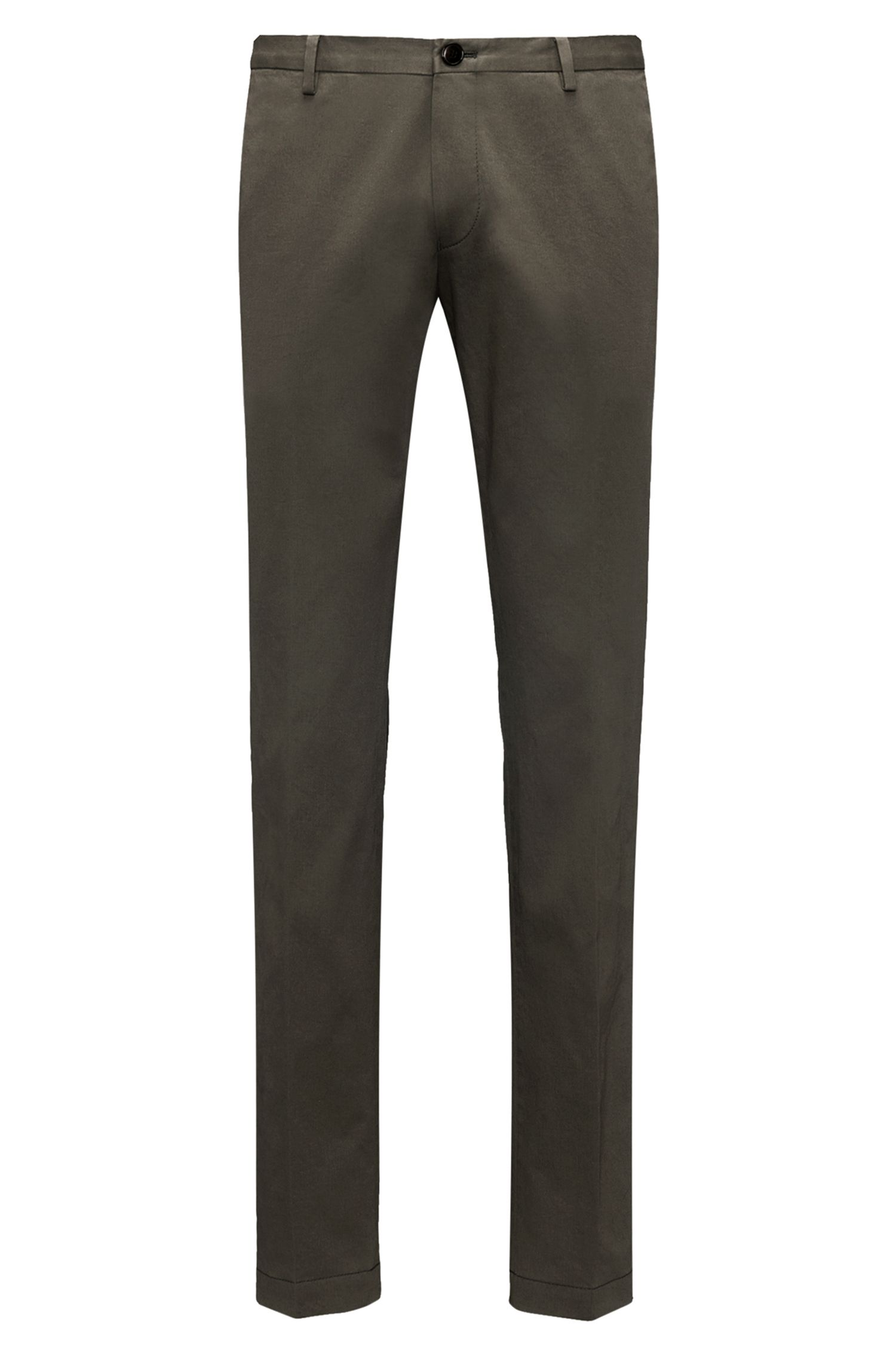 Slim-fit trousers in soft-washed stretch cotton