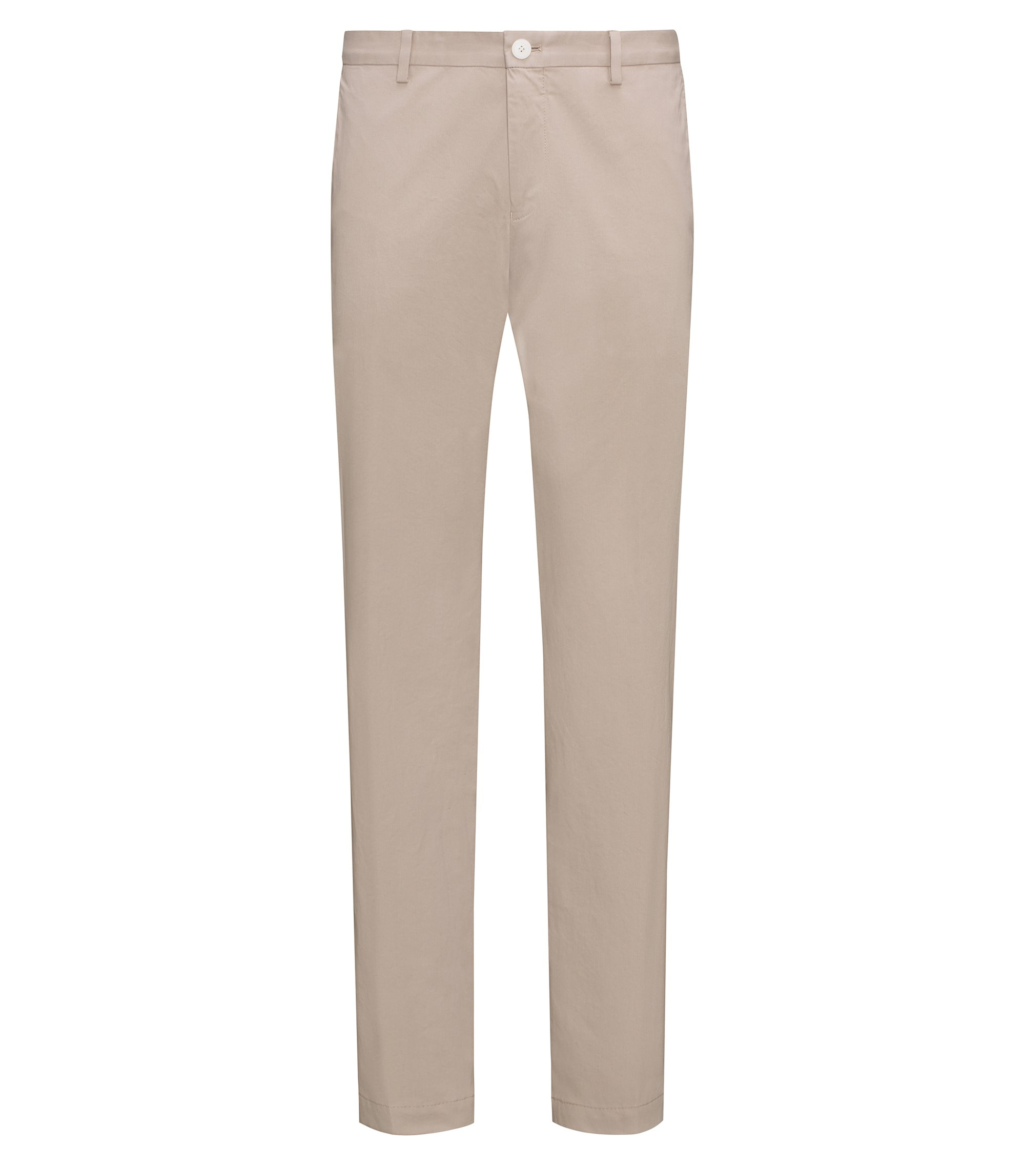 Pantalon Slim Fit en coton stretch légèrement délavé , Beige