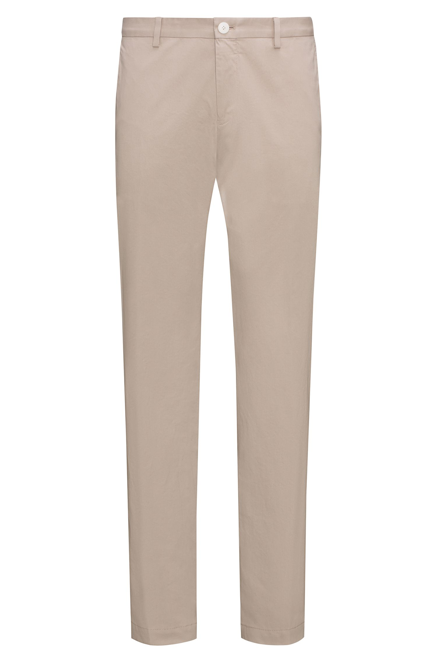 Pantalon Slim Fit en coton stretch légèrement délavé