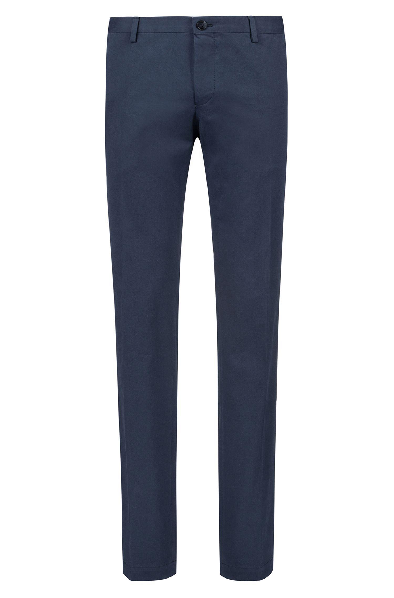 Slim-Fit Hose aus softer Baumwolle mit Elasthan-Anteil , Dunkelblau