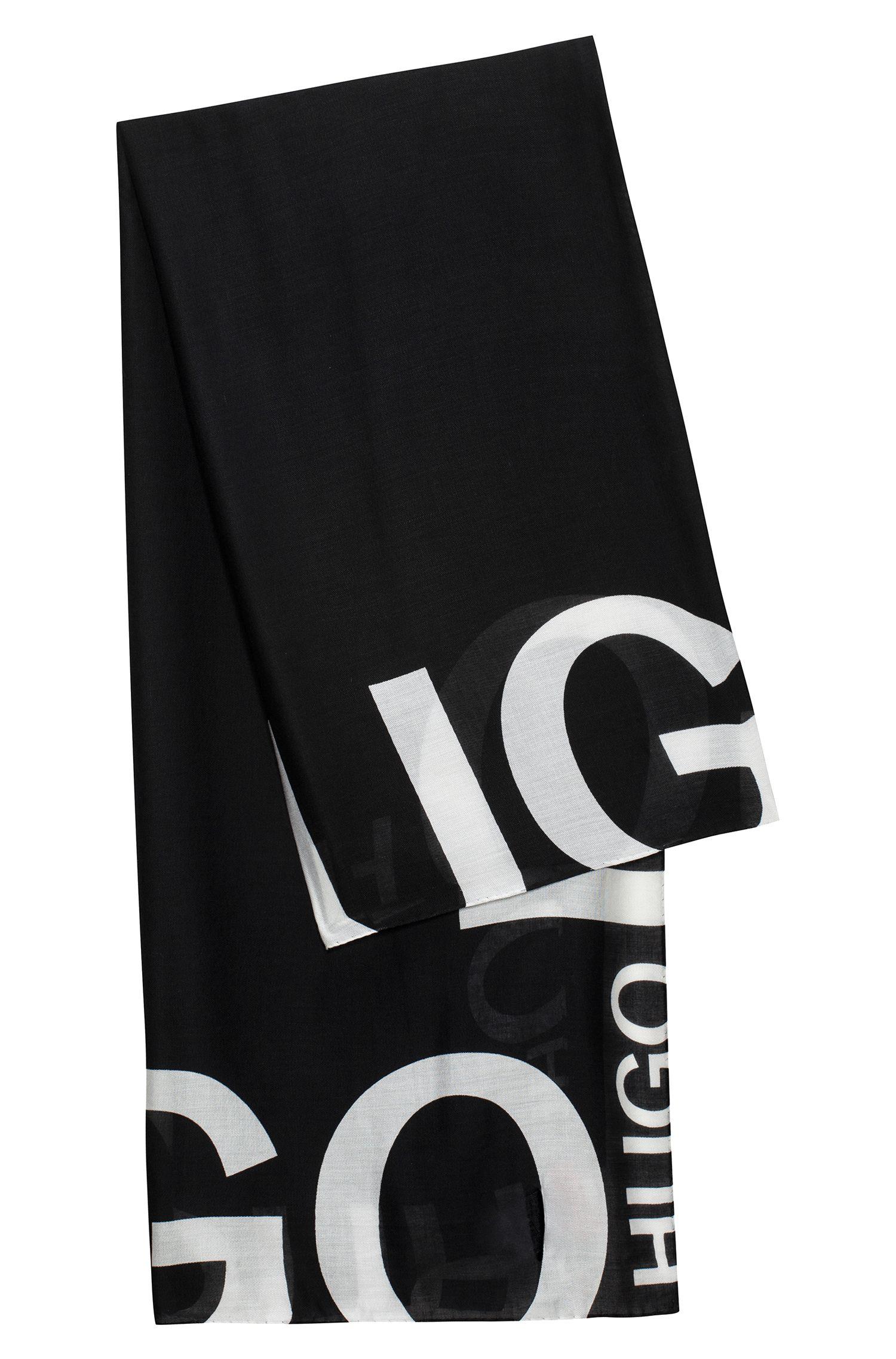 Reverse logo scarf in a modal blend