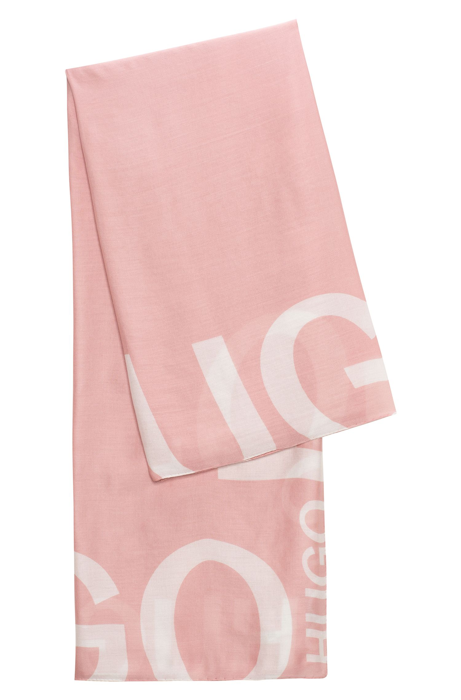 Sjaal van een modalmix met gespiegeld logo