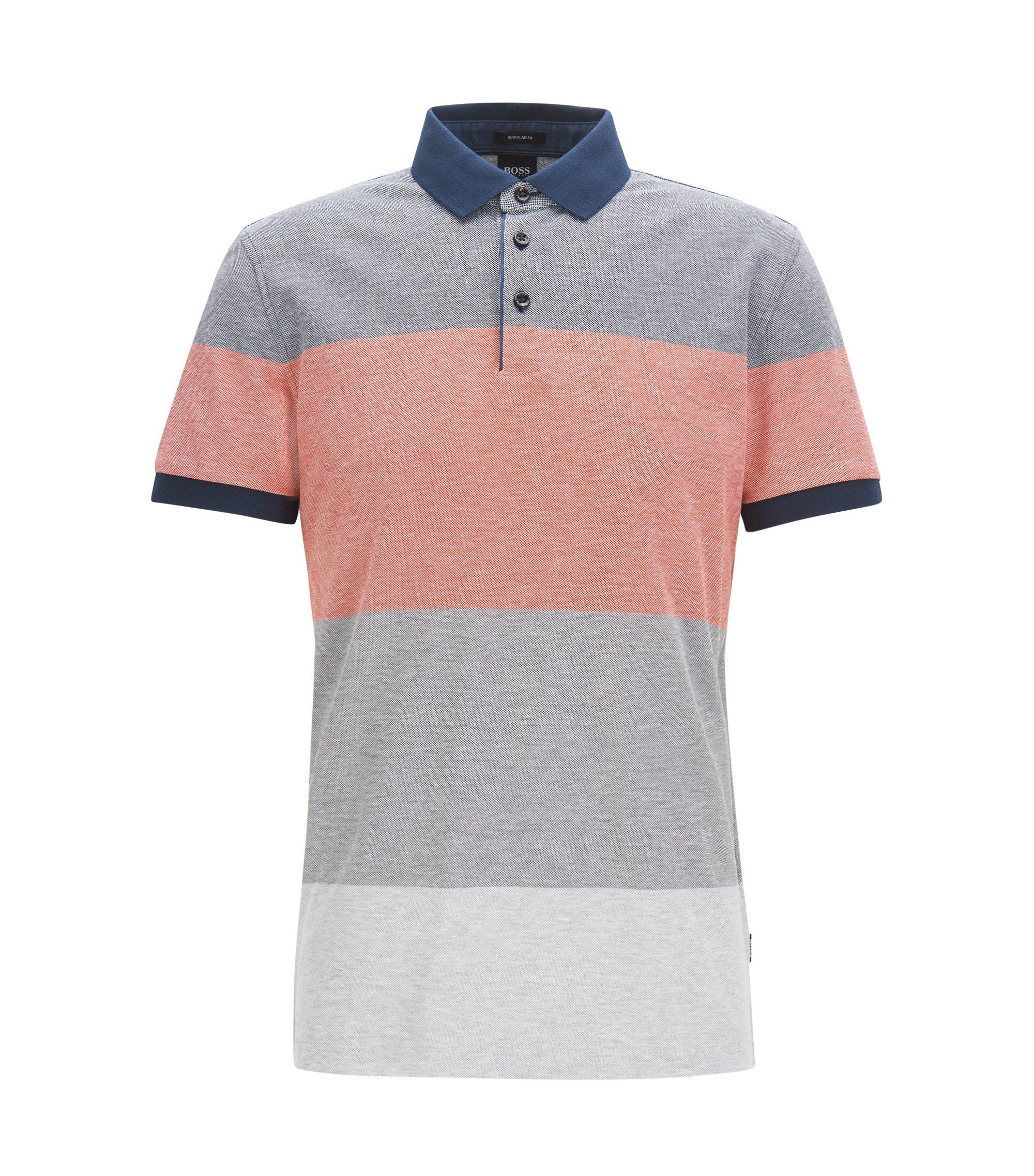Poloshirt aus Baumwoll-Piqué mit Colour-Block-Design , Dunkelblau