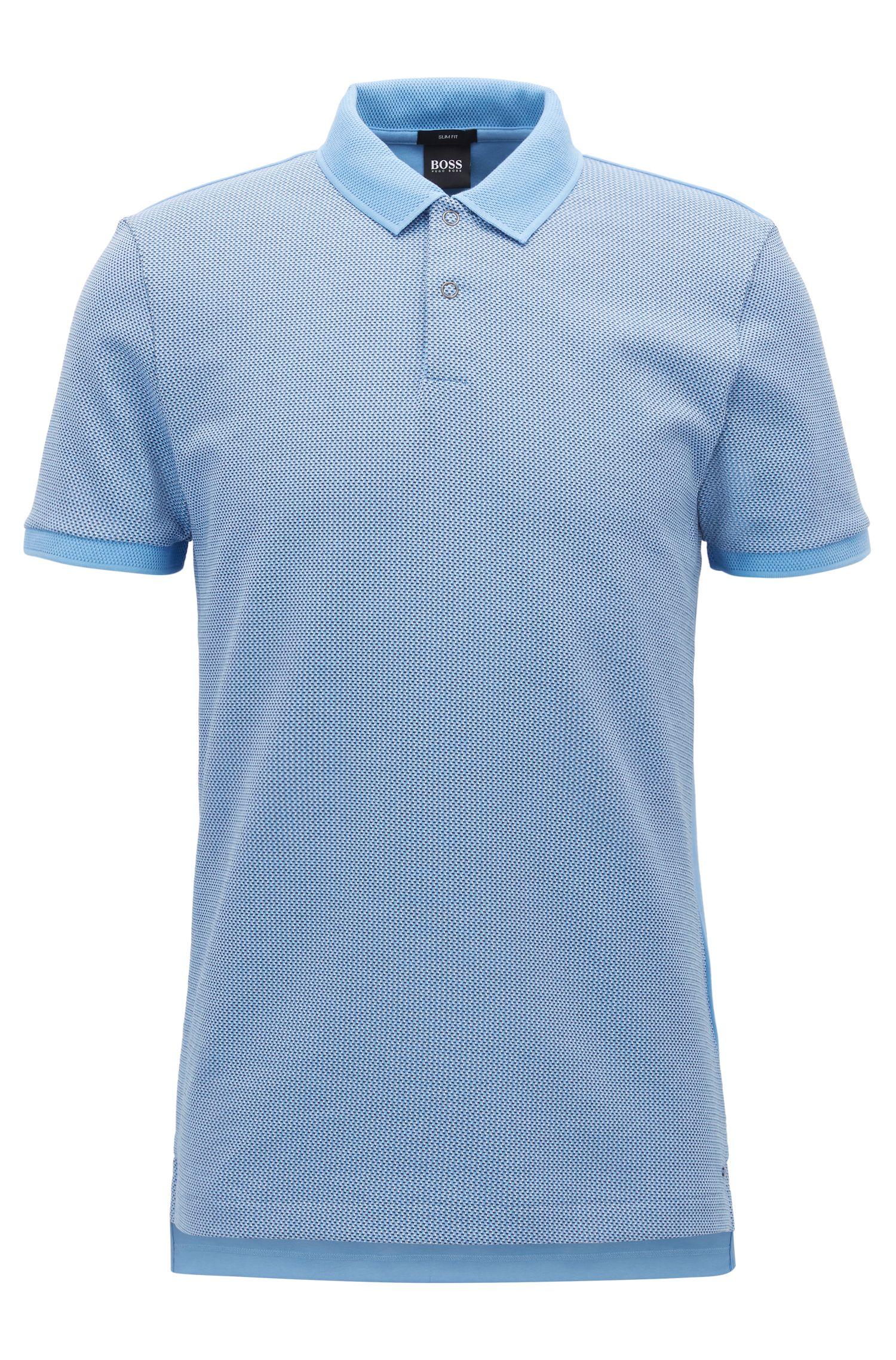 Poloshirt aus Baumwoll-Jacquard mit Birdseye-Muster