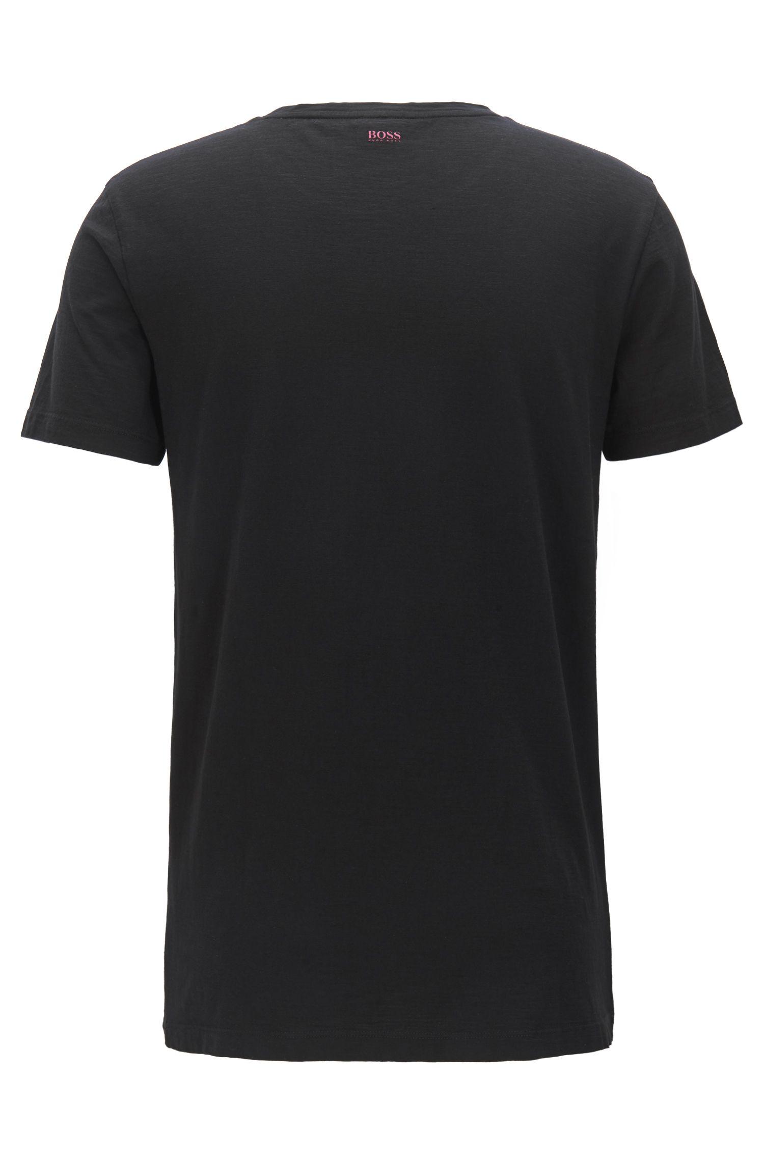 T-shirt Regular Fit en jersey de coton à motif palmier imprimé en série