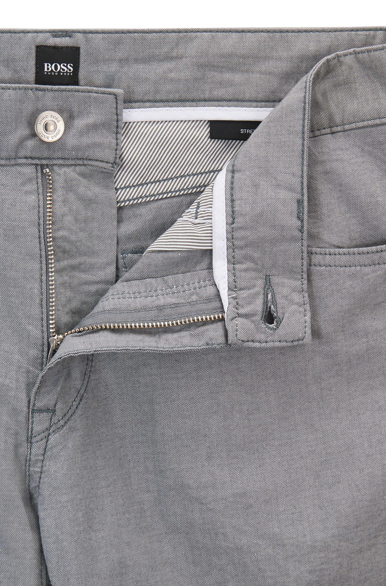 Regular-Fit Jeans aus melierter Stretch-Baumwolle