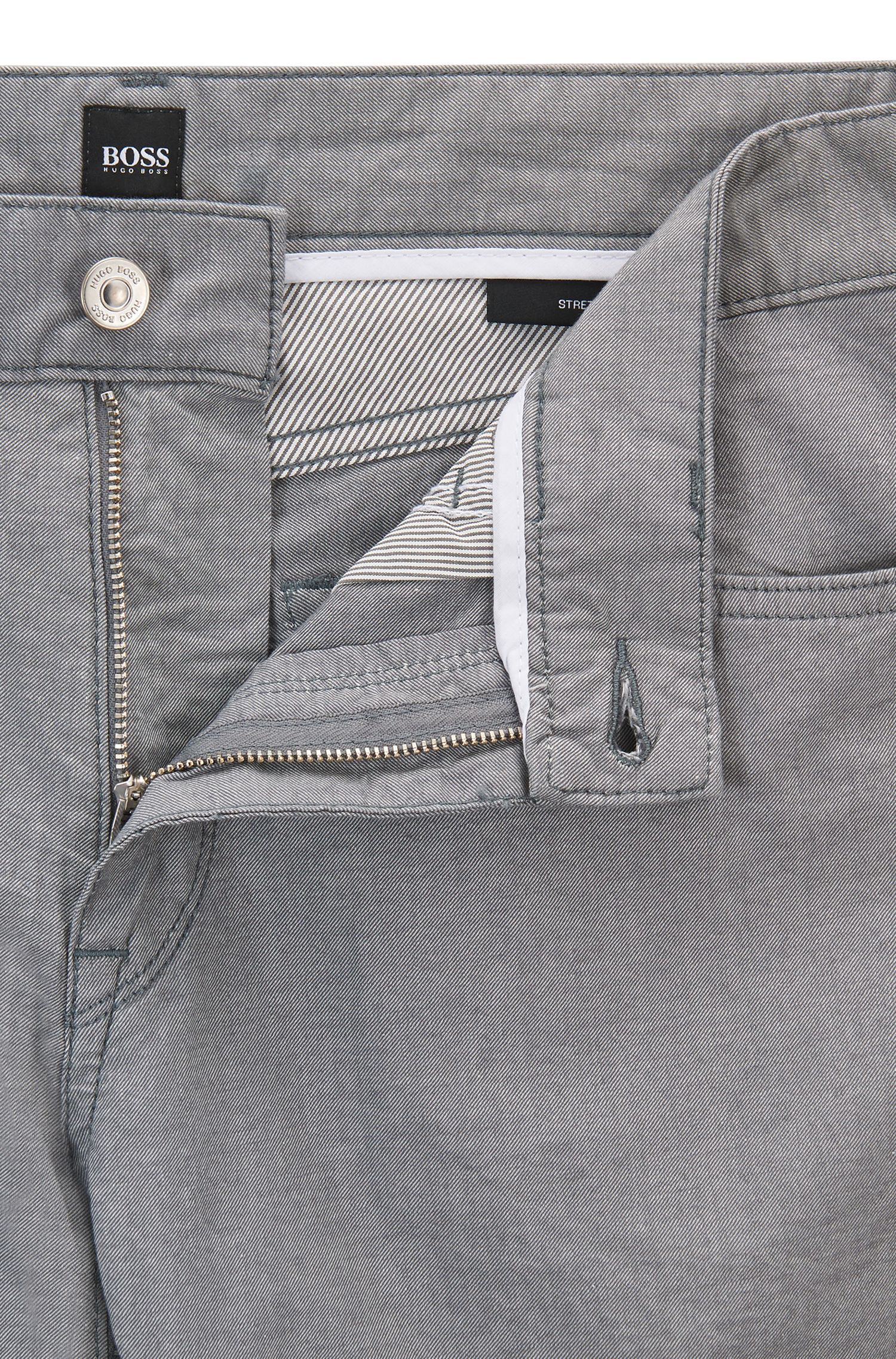 Jeans regular fit in cotone elasticizzato mélange