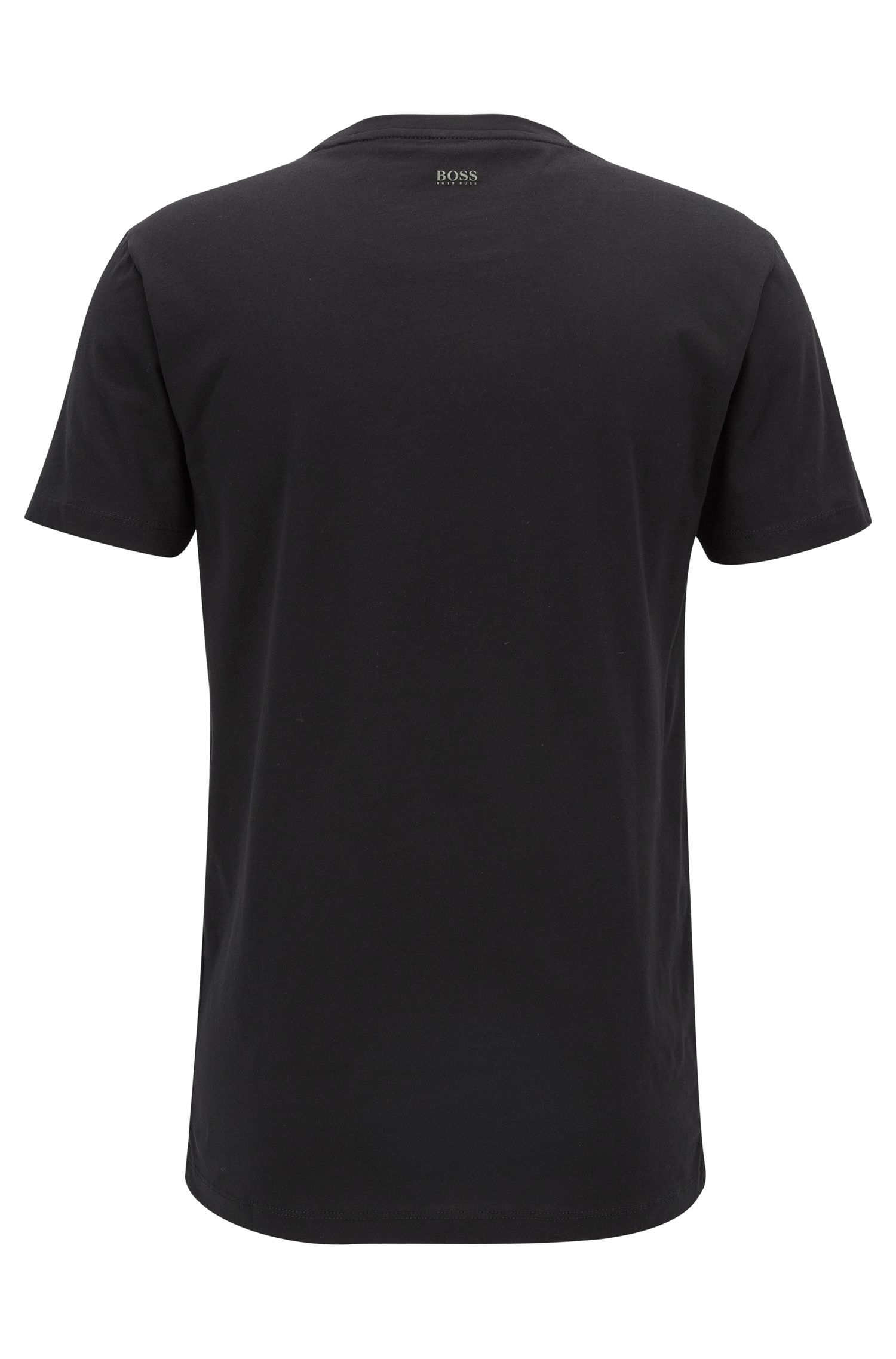 Camiseta regular fit con estampado de piñas en punto de algodón lavado